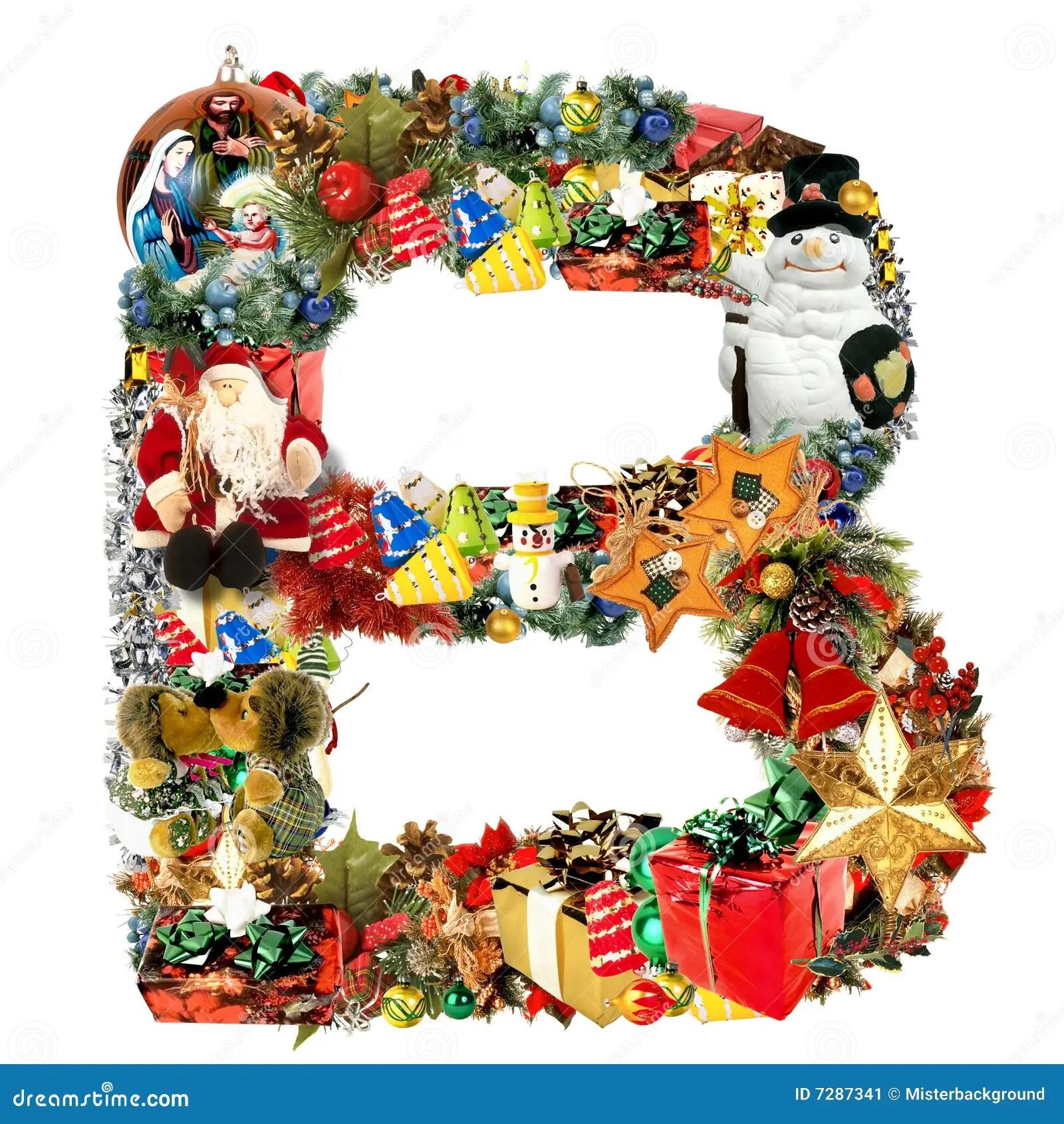 Letter B For Christmas Decoration Stock Illustration