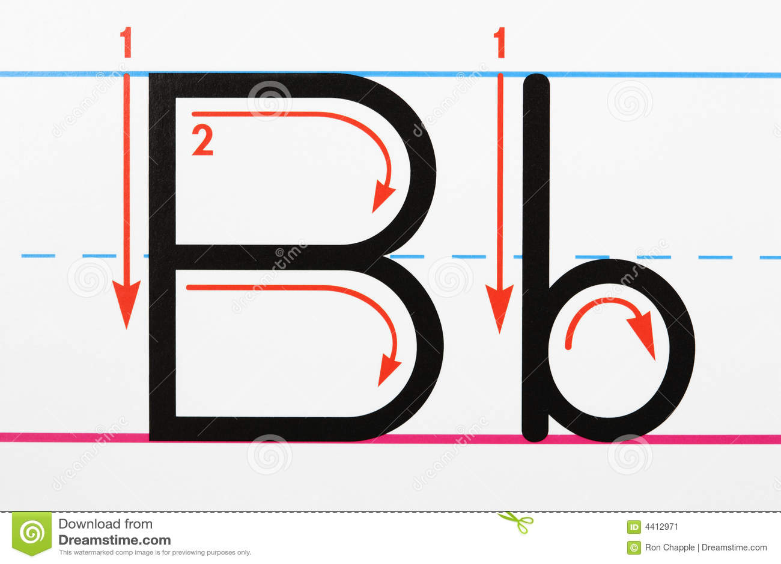 Letter B Handwriting Stock Image Image Of Language Conceptual