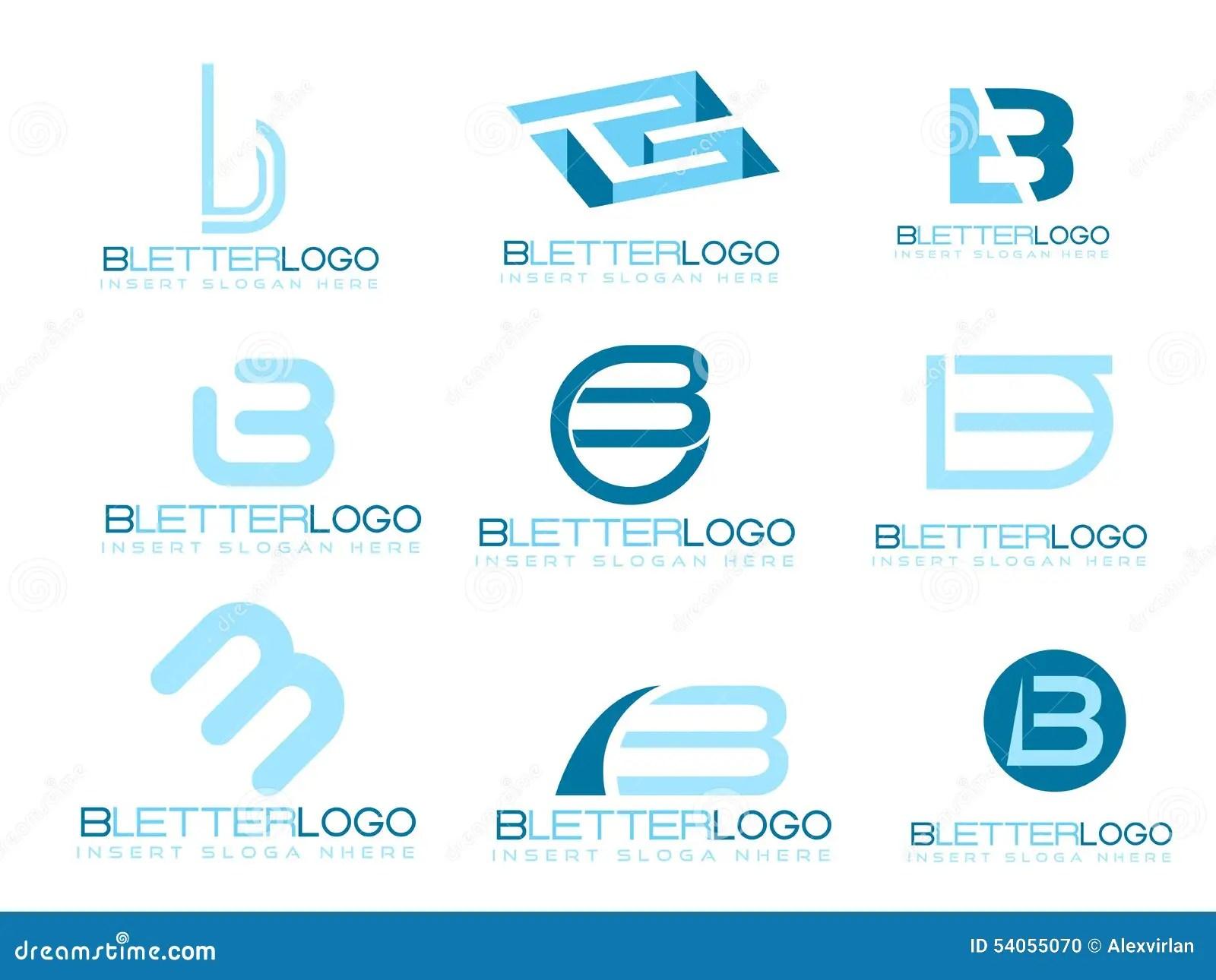 Letter B Logo Stock Vector Image 54055070