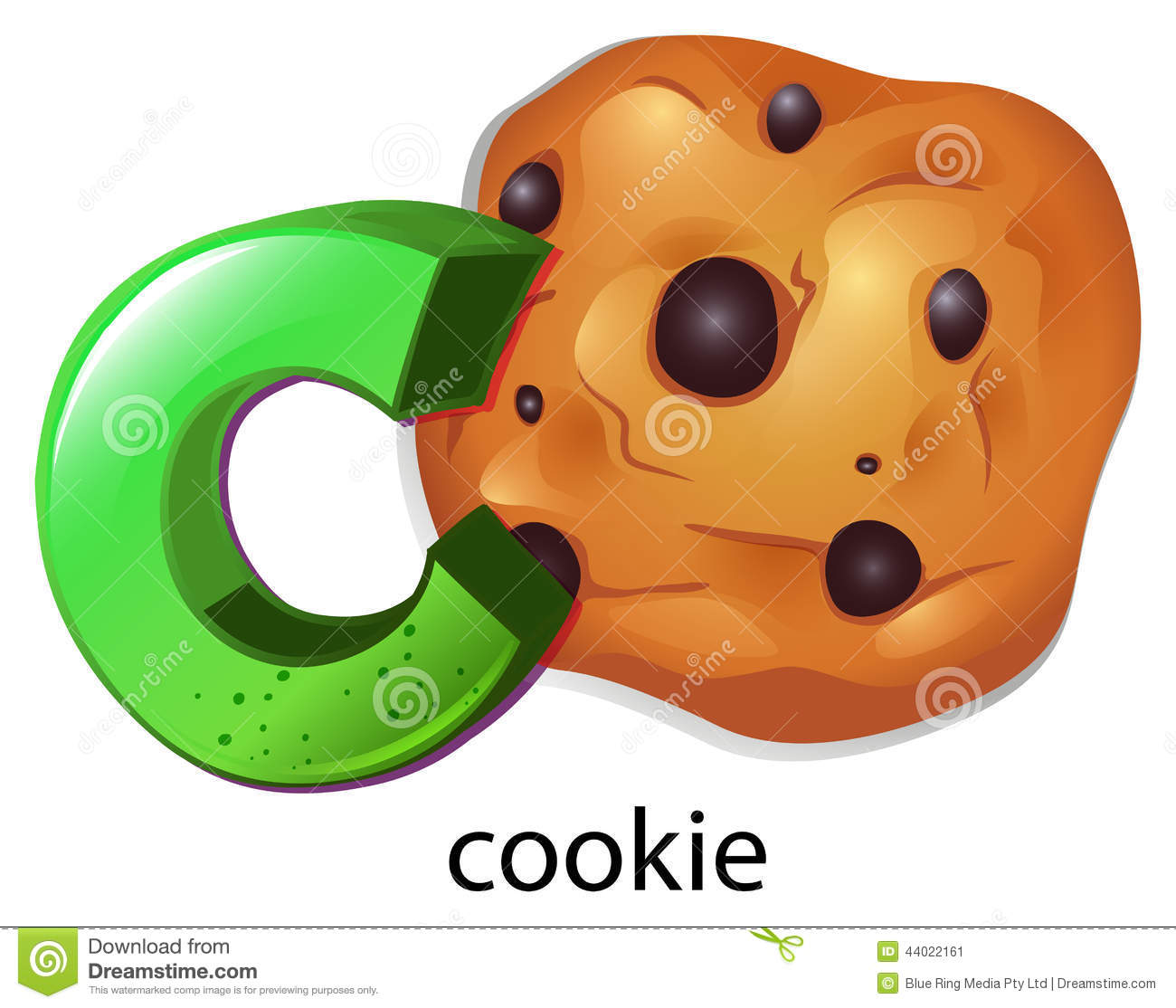 A Letter C For Cookie Stock Vector Illustration Of Artist
