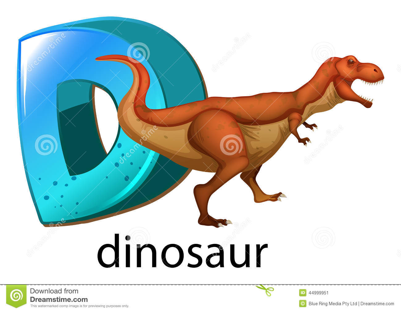 A Letter D For Dinosaur Stock Vector Image Of Drawing