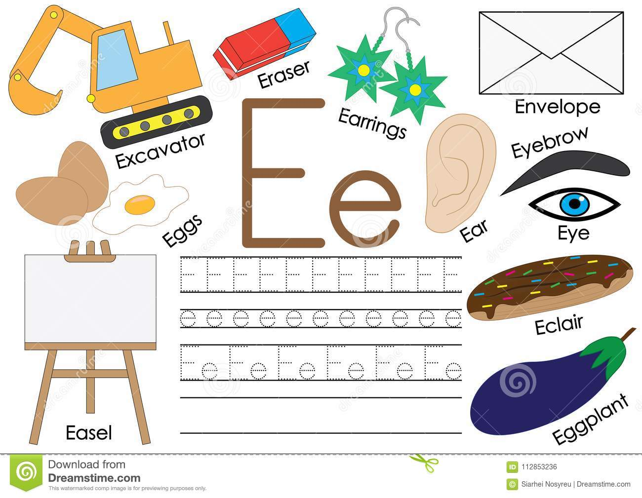 Letter E English Alphabet Connect The Dots Educational