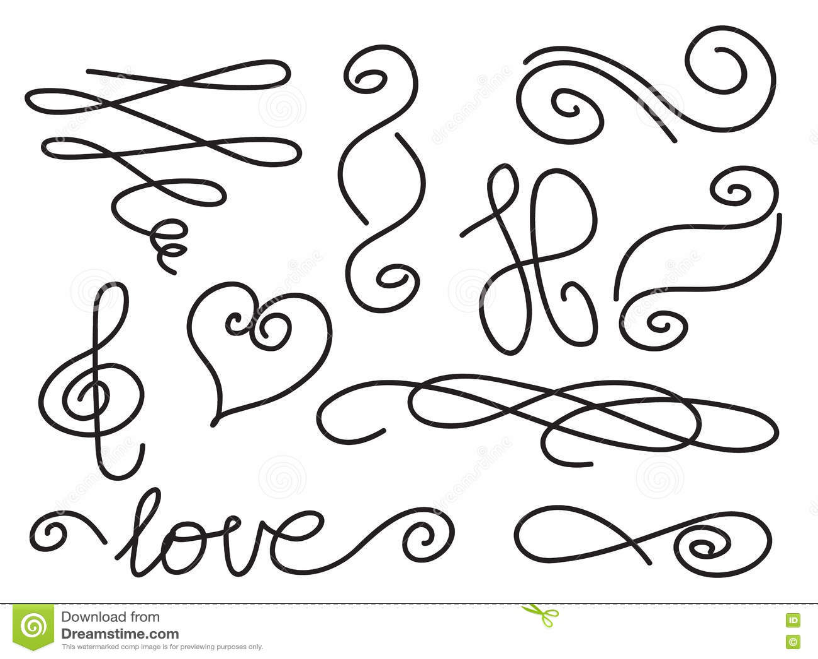 Letter End Swirls Stock Vector Illustration Of Book