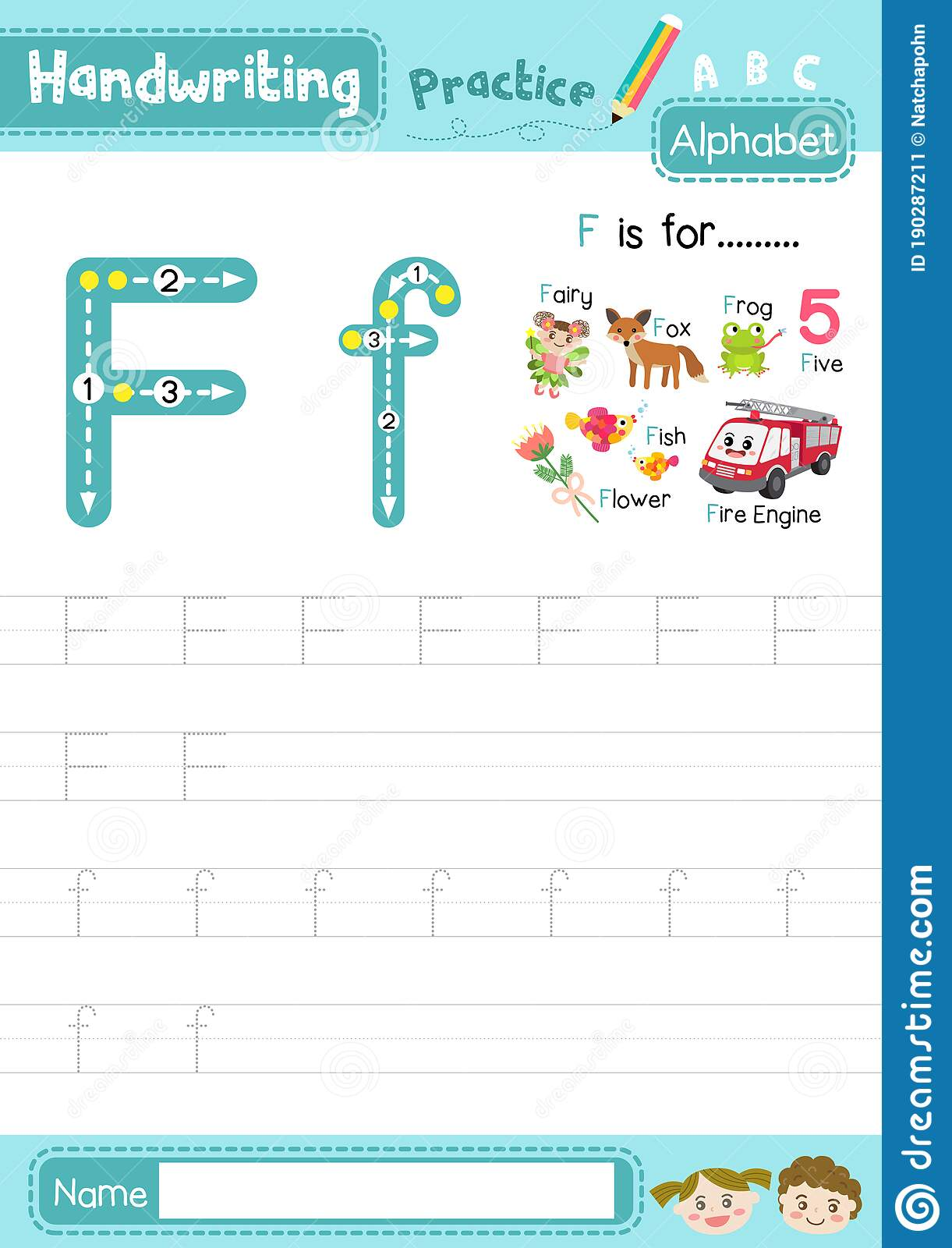 Letter F Uppercase And Lowercase Tracing Practice