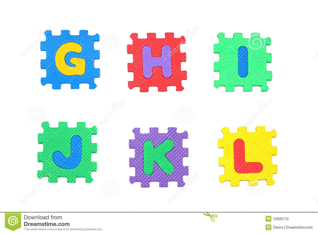 Letter G H I J K L Stock Illustration Illustration