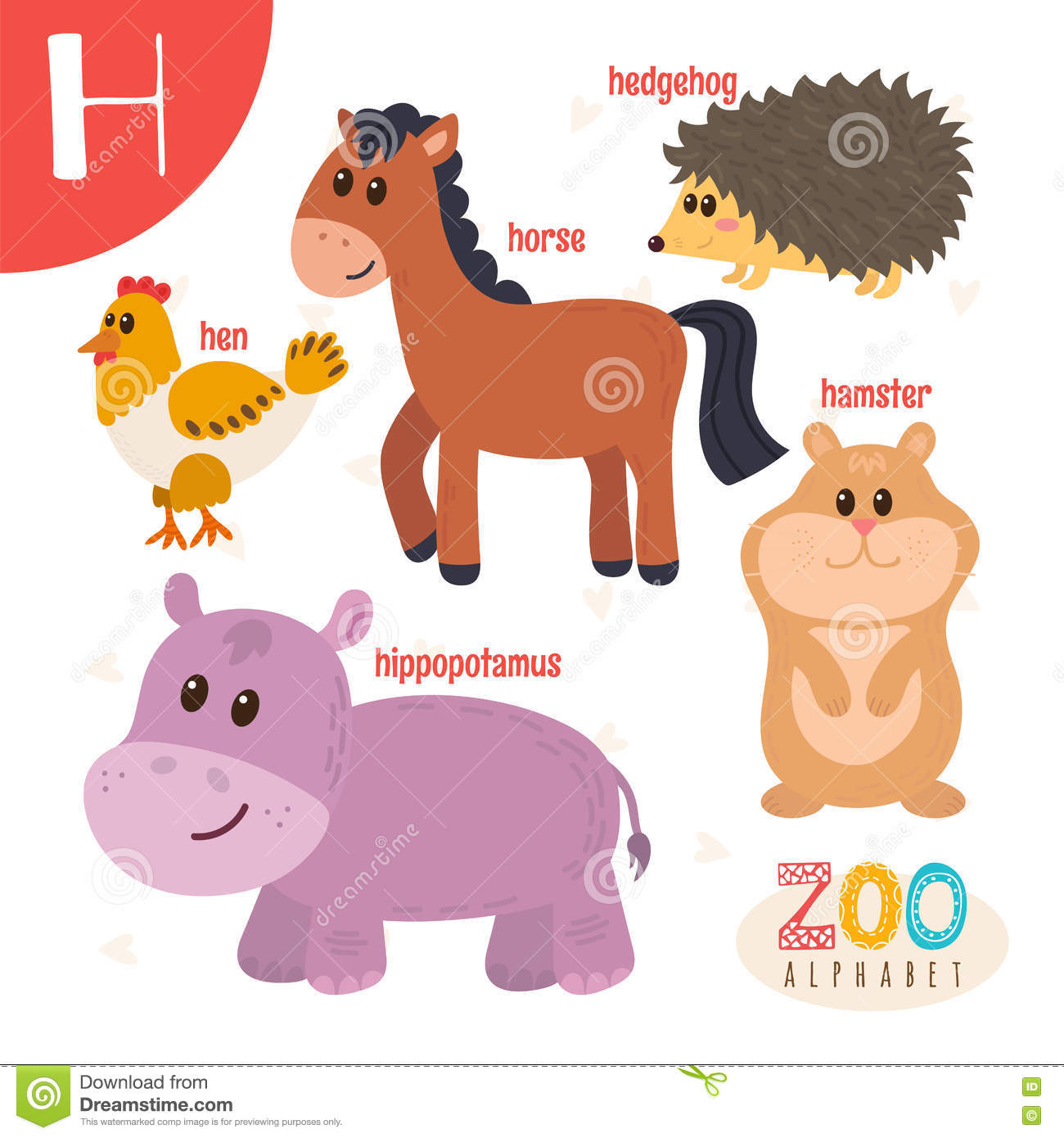 Animals With Letter H