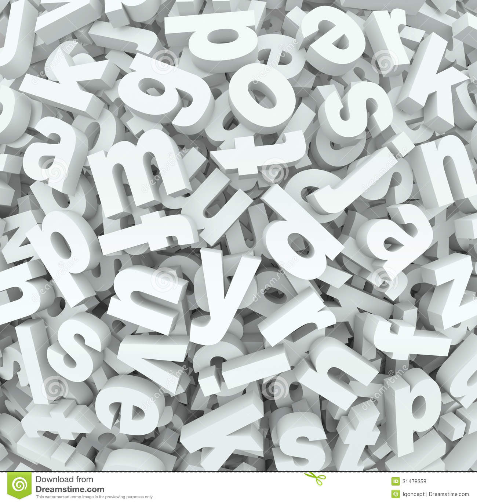 Letter Jumble Background Alphabet Words Spilled Mess Stock