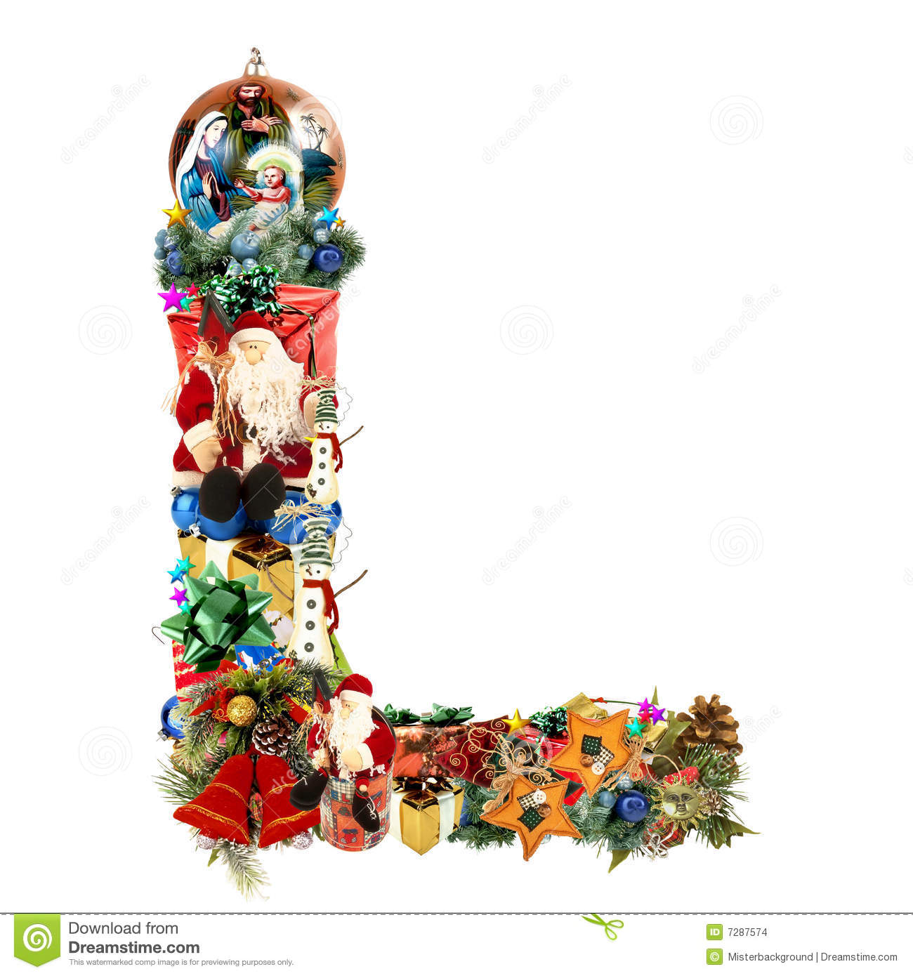 Letter L For Christmas Decoration Stock Images