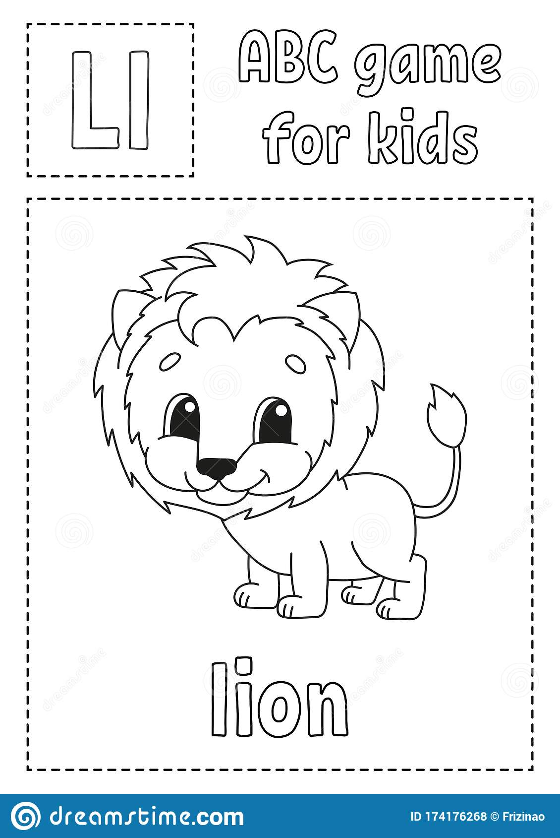 Letter L Is For Lion Abc Game For Kids Alphabet Coloring
