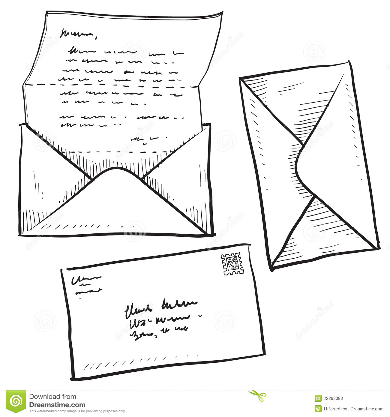 Letter Mail Or Contact Illustration Stock Vector