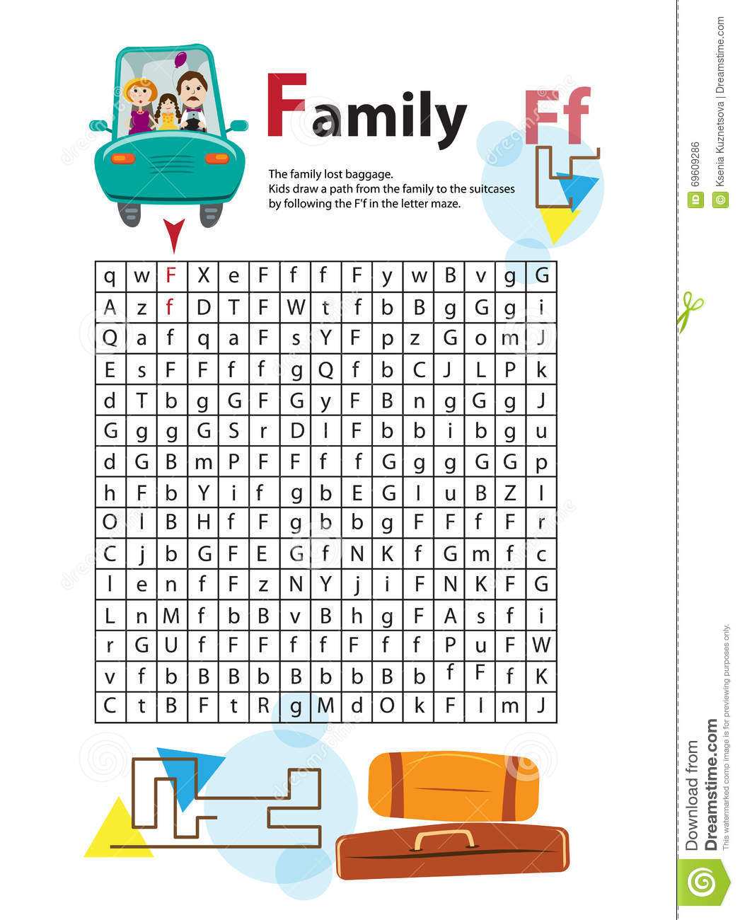 Letter Maze F This Worksheet Helps Kids Recognize And Name Capital And Lowercase Letters Kids