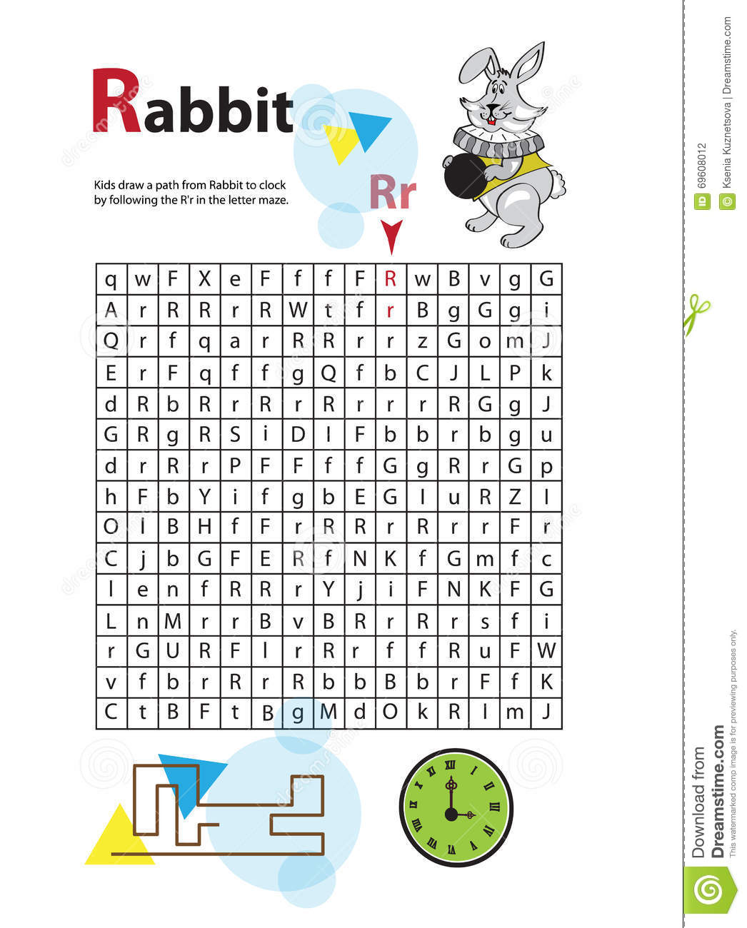 Letter Maze R This Worksheet Helps Kids Recognize And