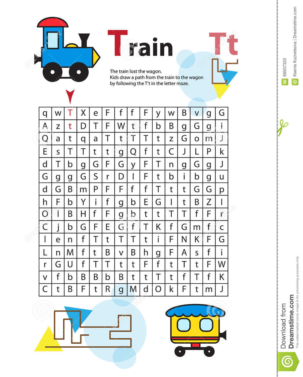 Letter Maze T This Worksheet Helps Kids Recognize And Name Capital And Lowercase Letters Kids