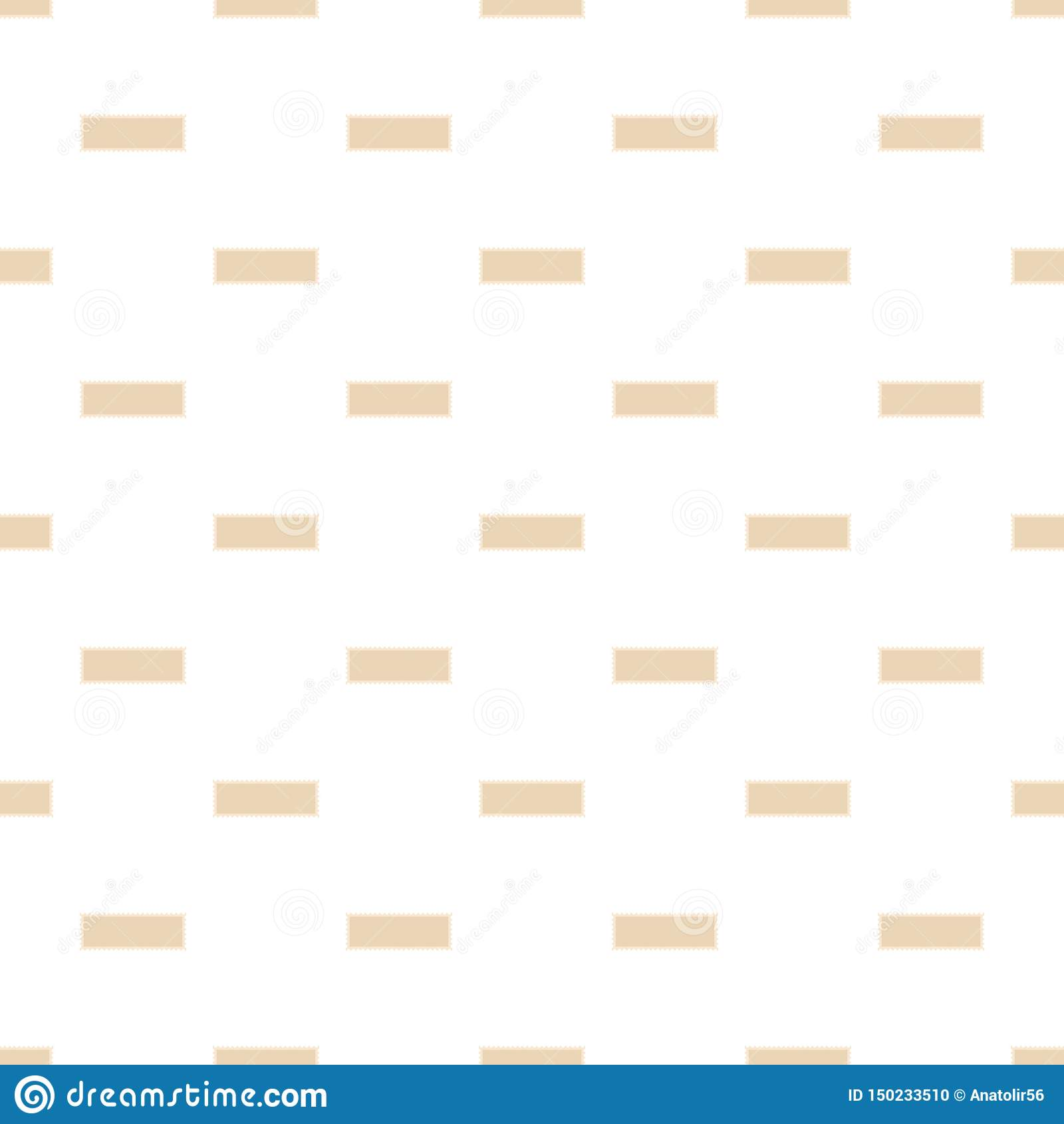Letter Postage Stamp Pattern Seamless Vector Stock Vector