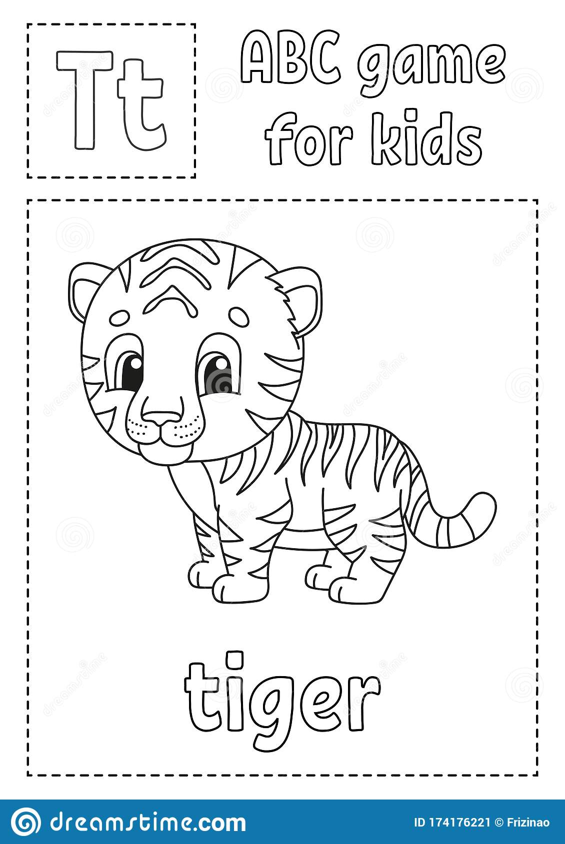 Letter T Is For Tiger Abc Game For Kids Alphabet