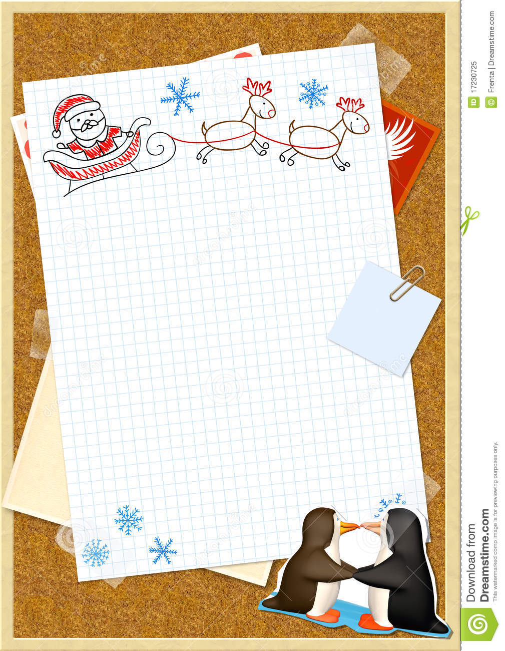 Letter To Santa Claus Royalty Free Stock Photo Image