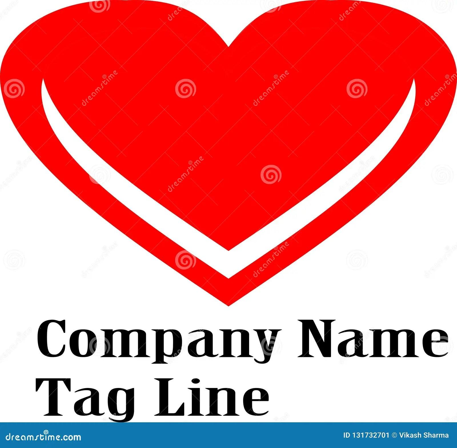 Letter V Red Color Heart Logo Vector High Resolution