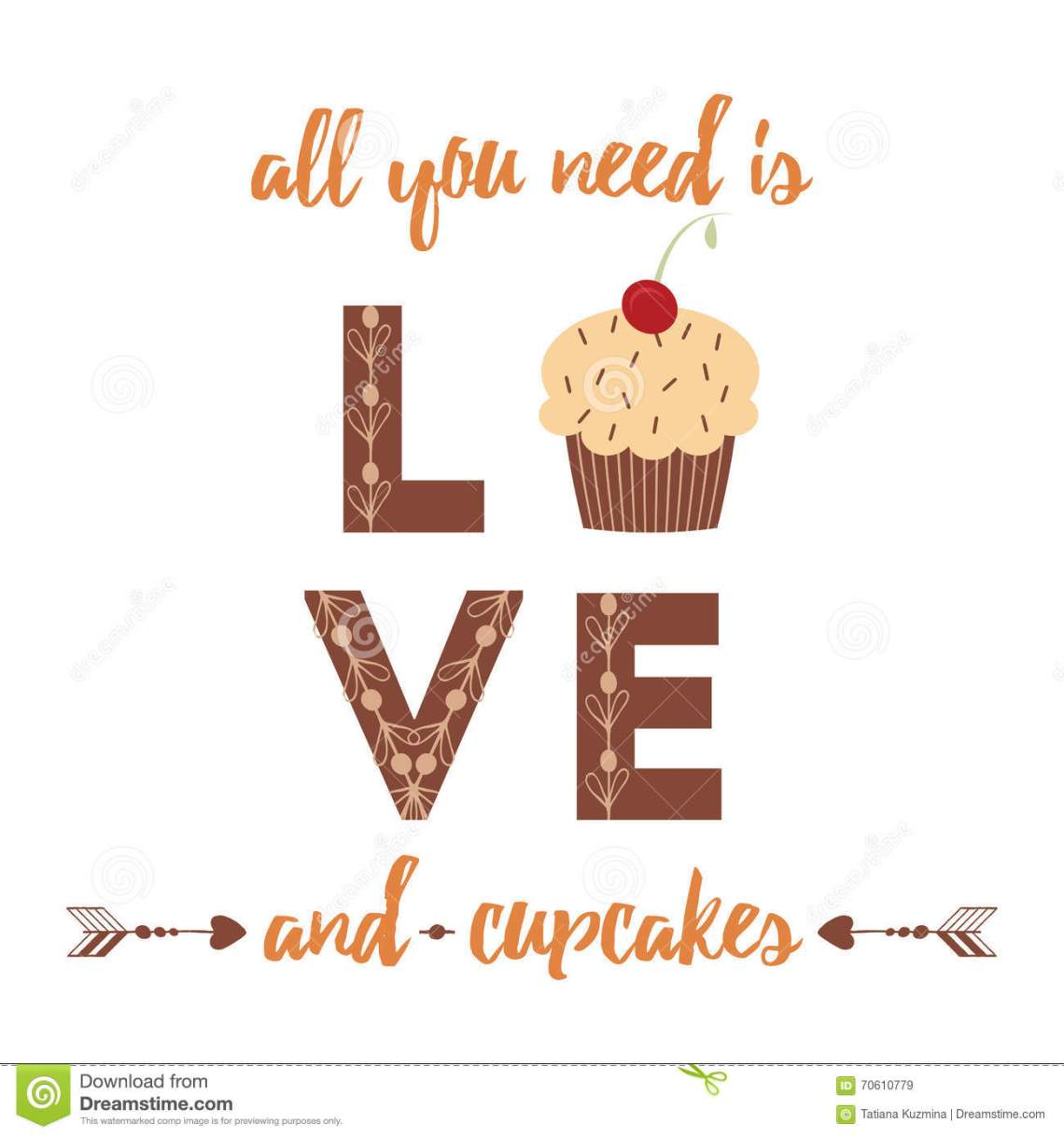 Download Lettering Quote For Bakery Design. Stock Illustration ...