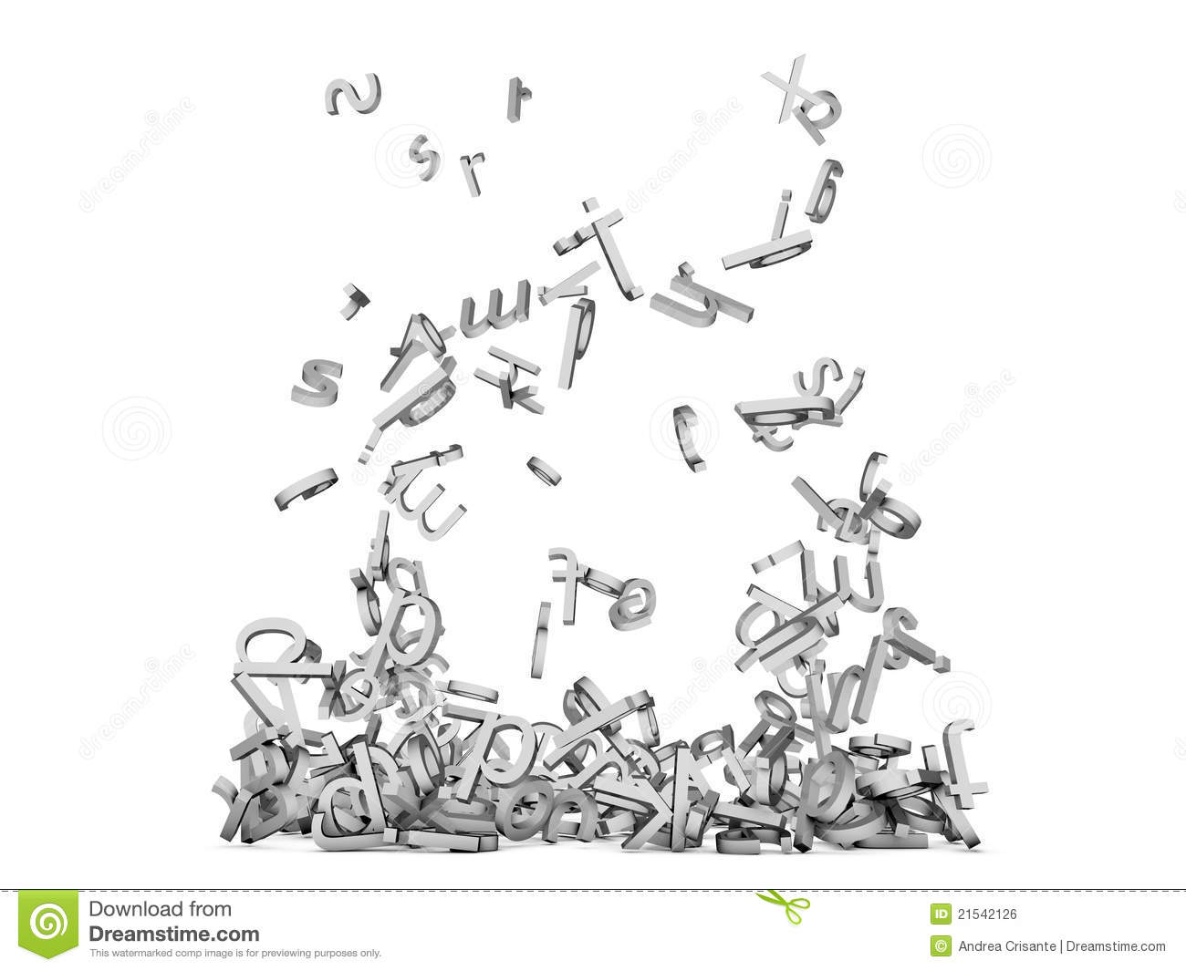 Letters Falling Royalty Free Stock Image Image 21542126