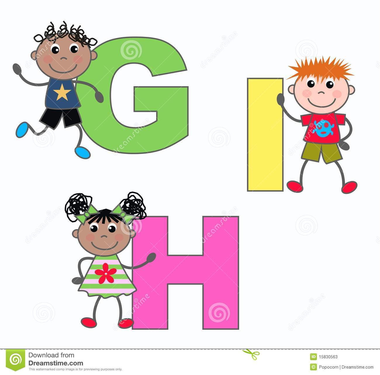Letters G H And I Stock Illustration Illustration Of