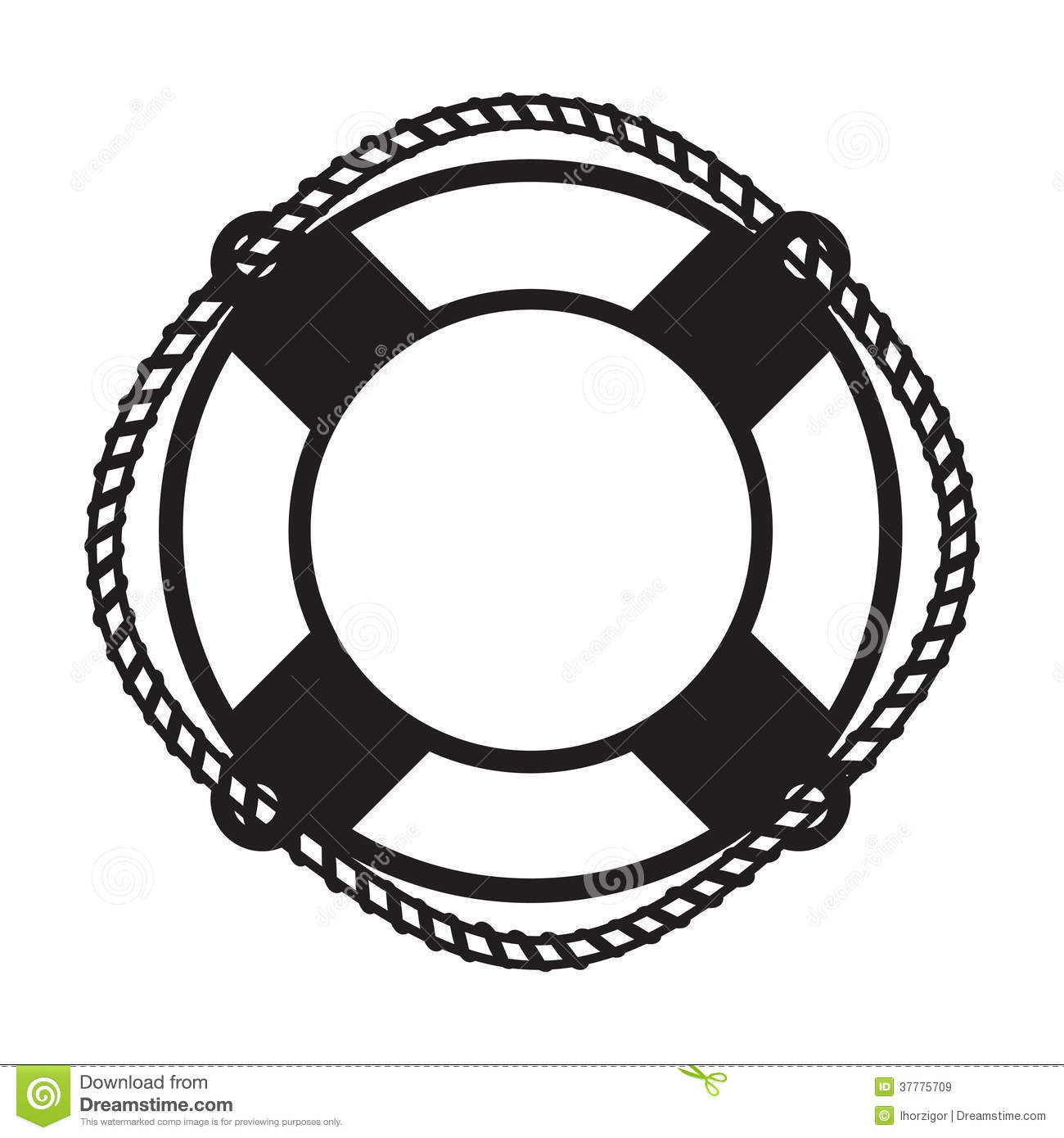 Life Buoy Stock Vector Image Of Design Cutout Image