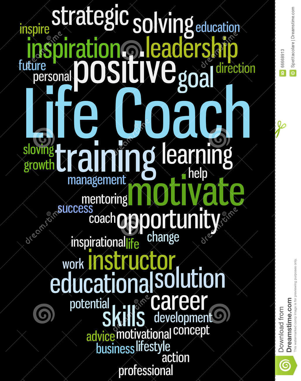 Life Coach Word Cloud Concept 2 Stock Illustration