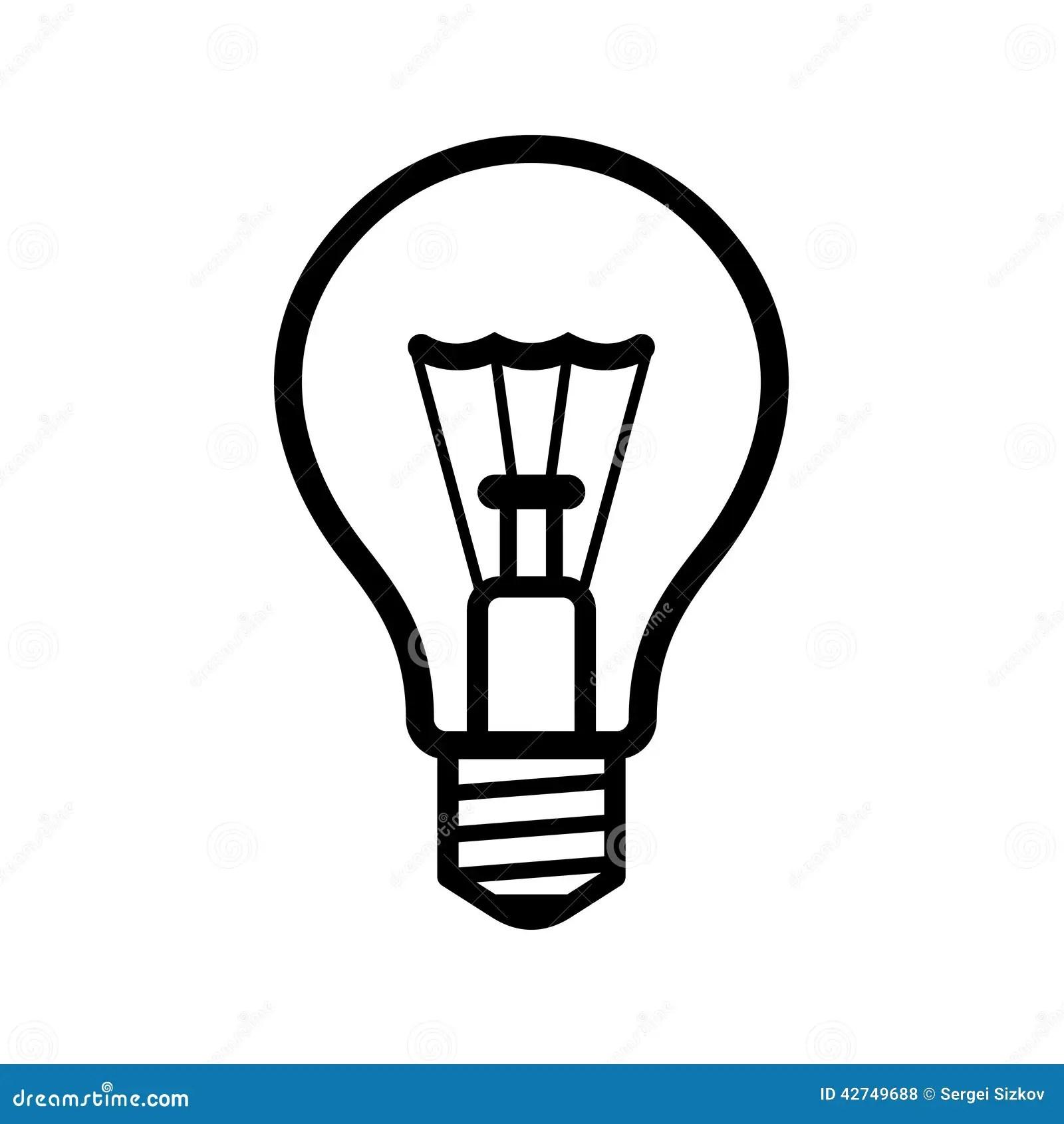 Light Bulb Icon On White Background Vector Stock Vector