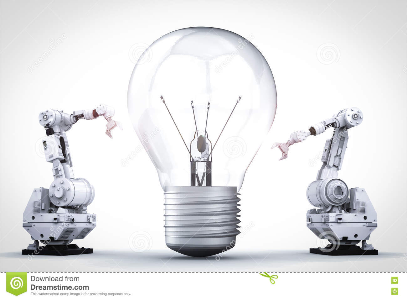 Light Bulb Invention Stock Photo Image Of Industry Arms