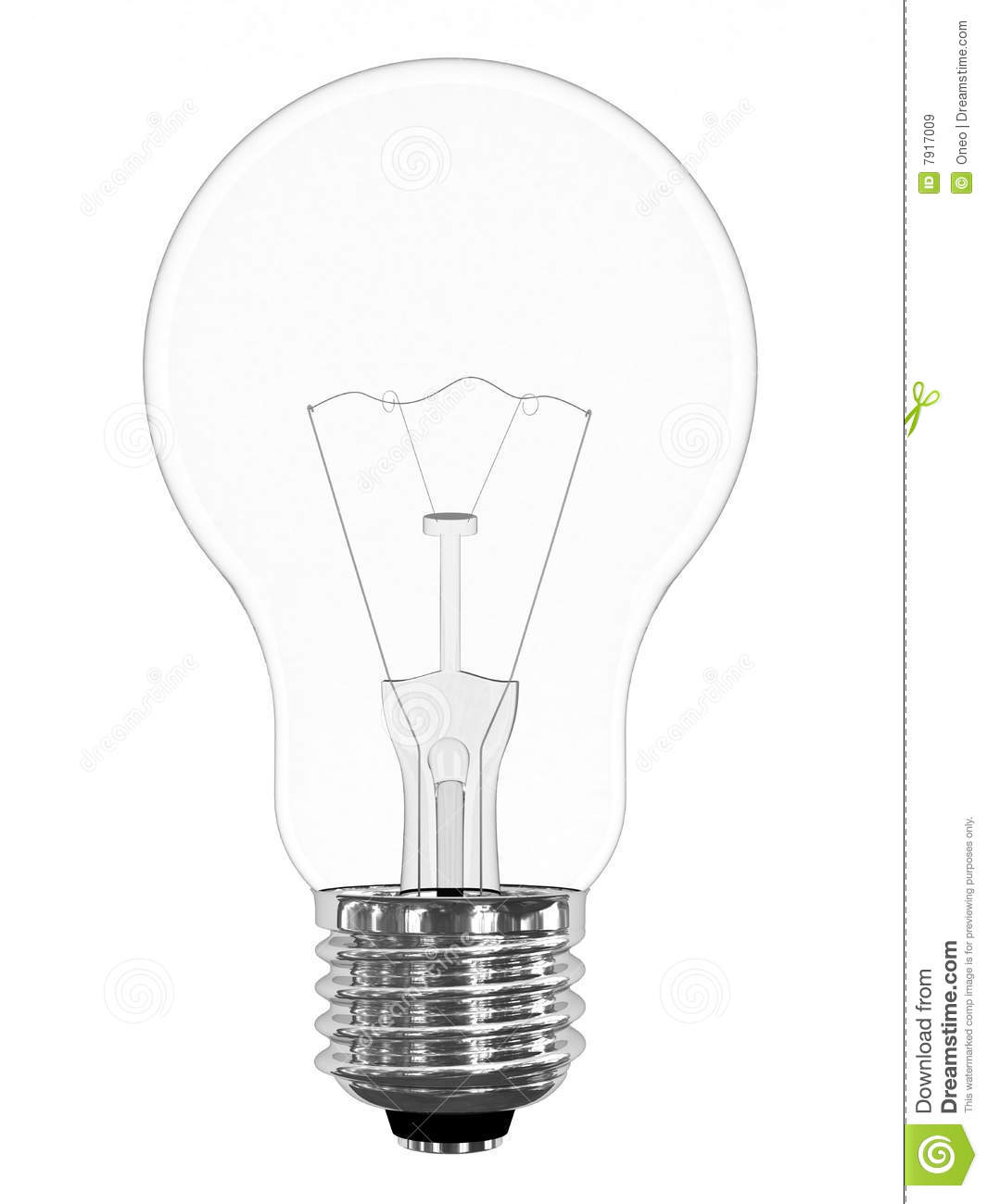 Light Bulb Isolated On White Stock Illustration