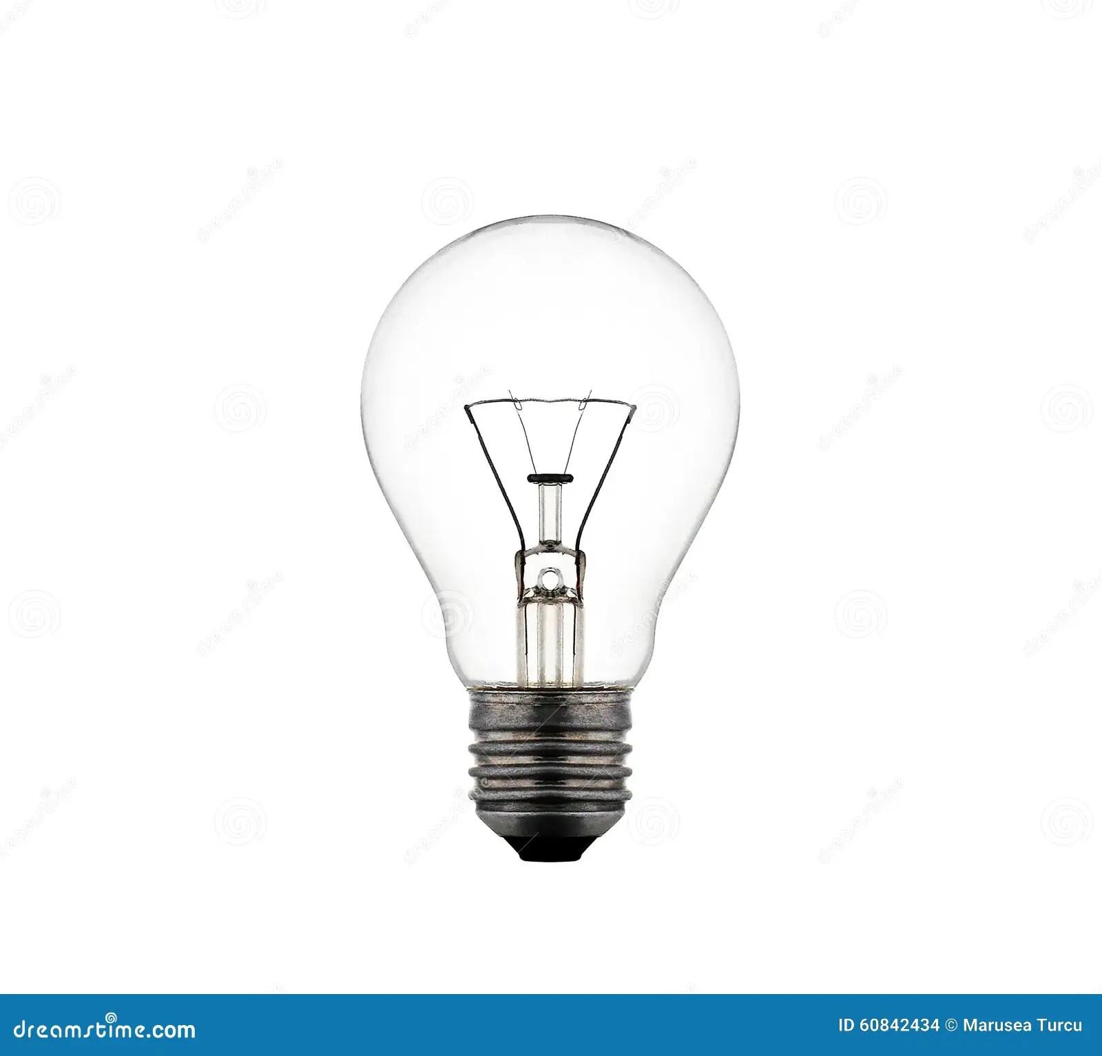 Light Bulb Isolated Stock Photo Image Of Thinking Idea