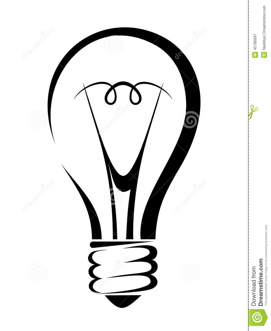 Light Bulb Vector Black Silhouette Stock Vector