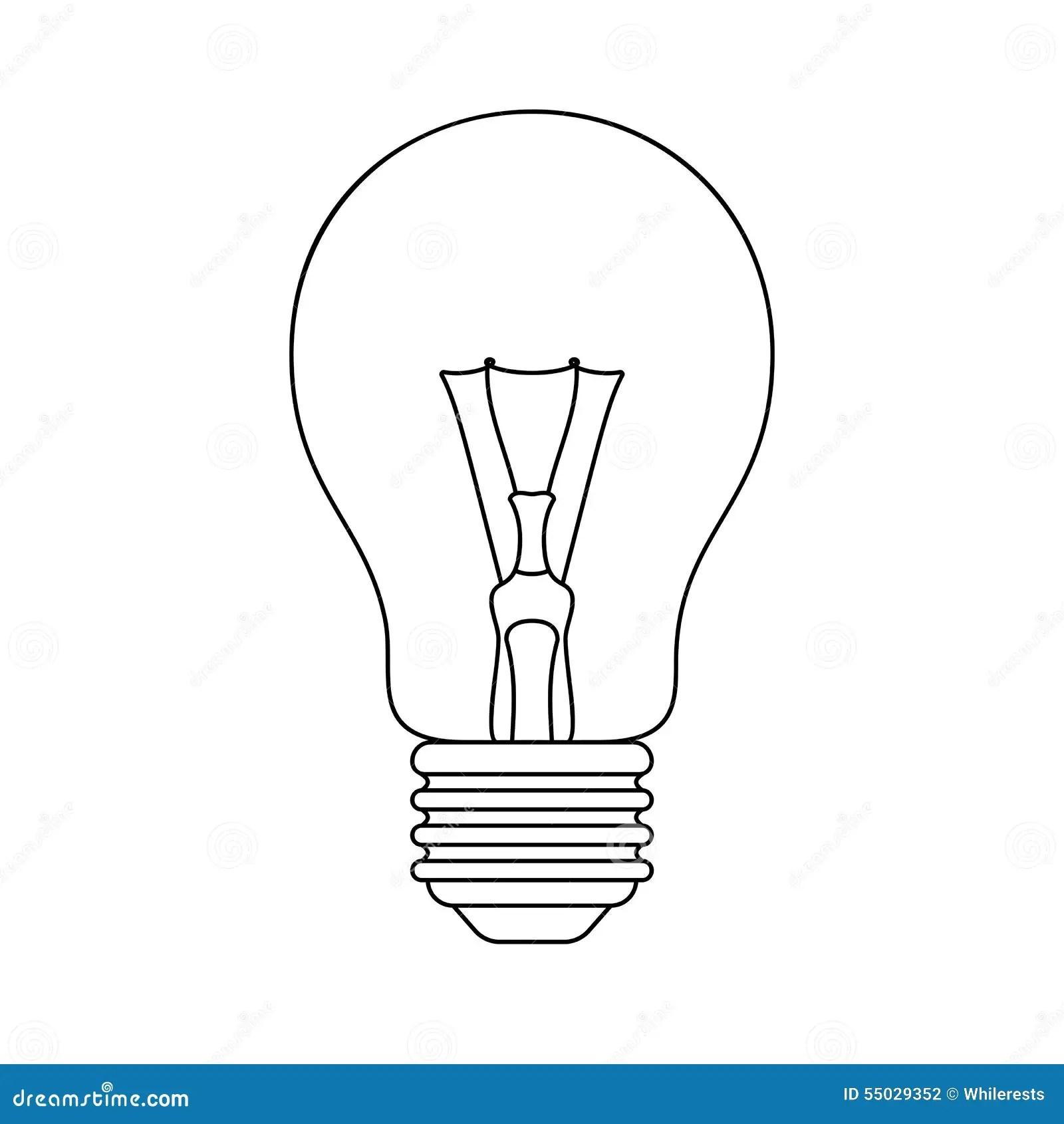 Light Bulb Vector Stock Vector Illustration Of Halogen