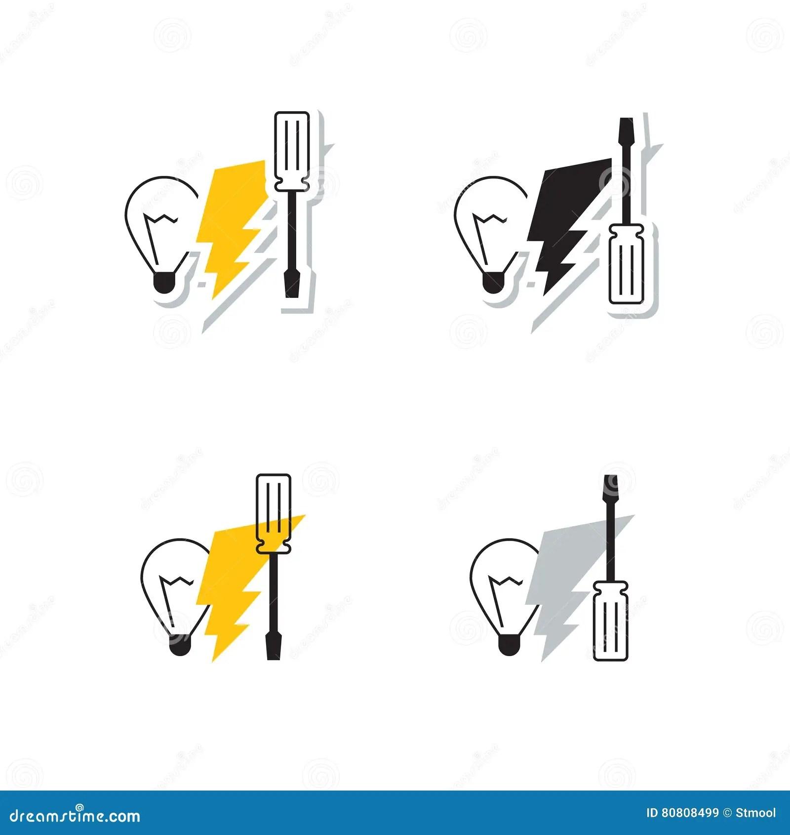 Electrician Tools Logo Vector Illustration