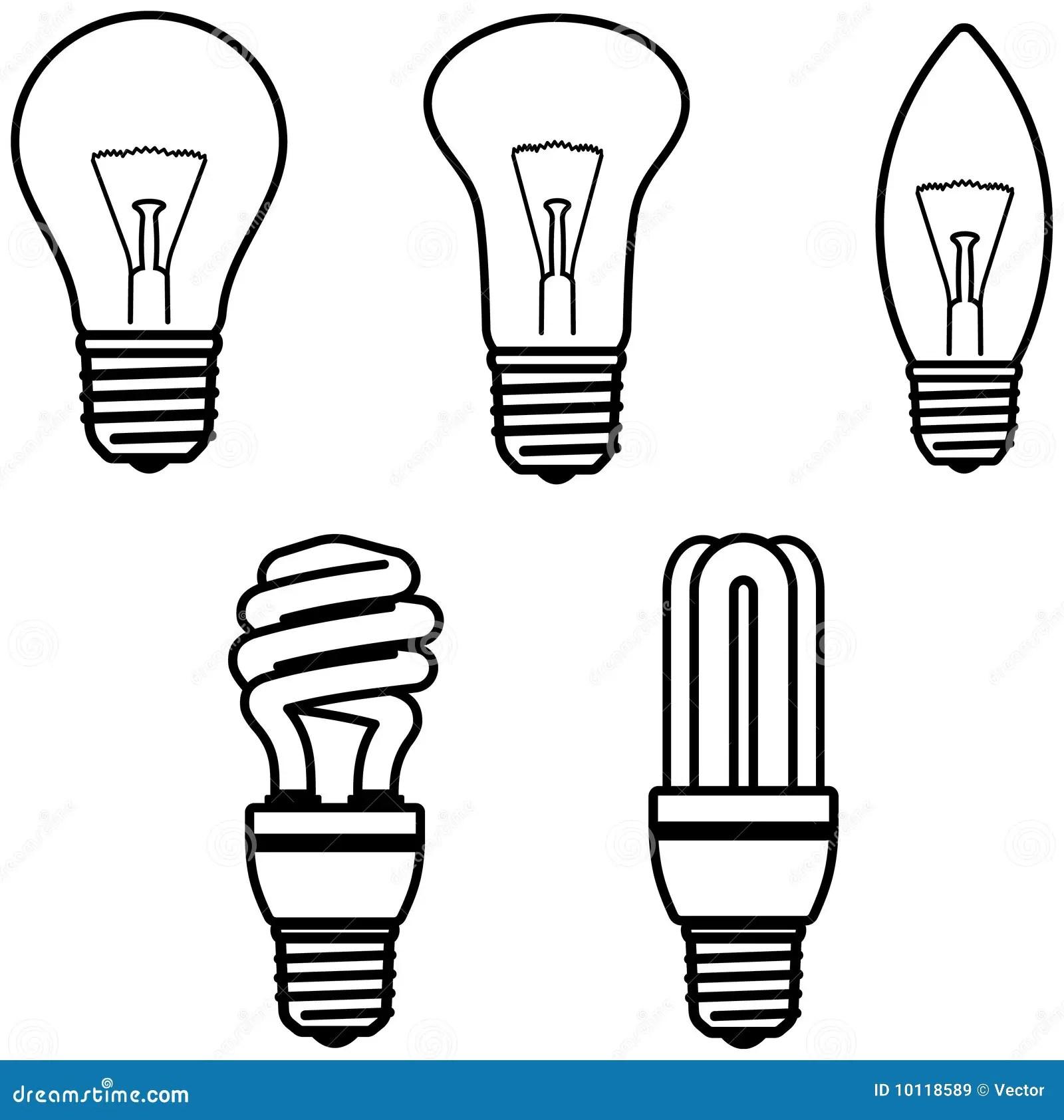 Light Bulbs Vector Illustration Royalty Free Stock