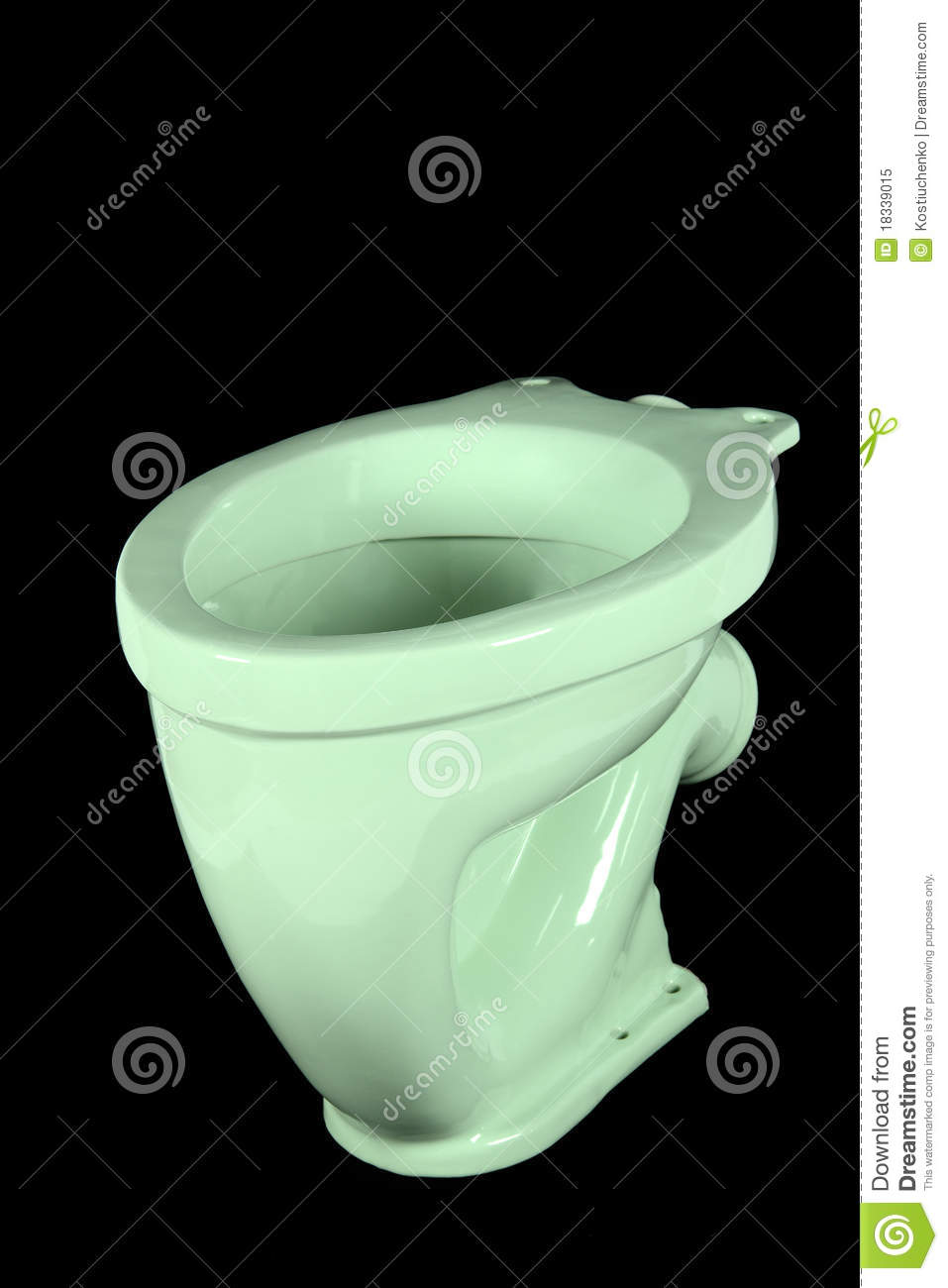 The Light Green Toilet Bowl Royalty Free Stock Photo Image 18339015