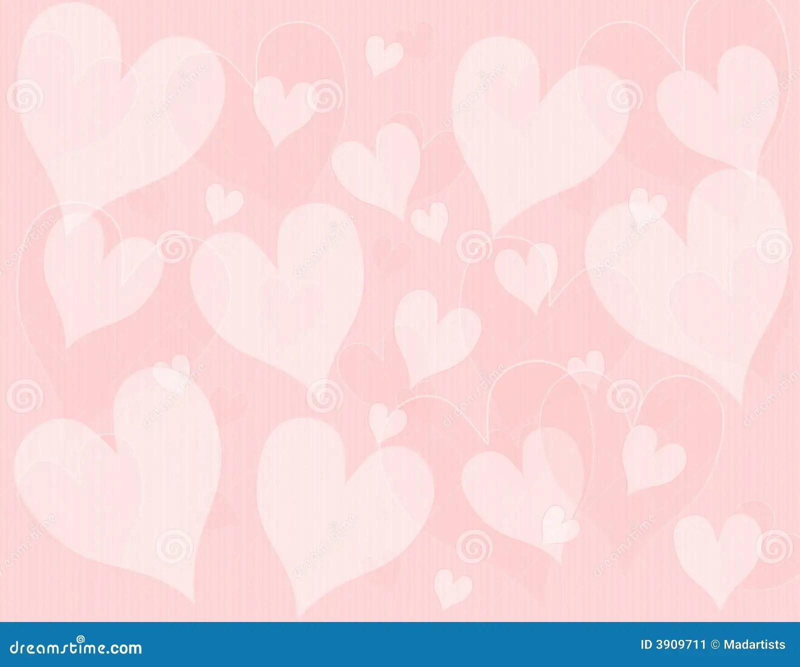 Light Pink Hearts Background Pattern Stock Illustration