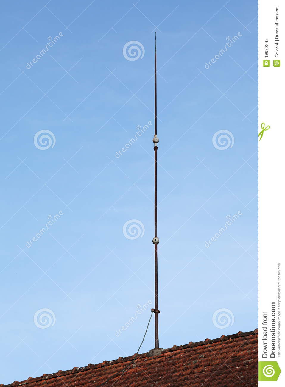 Lightning Conductor Rod Stock Photography Image 19032242