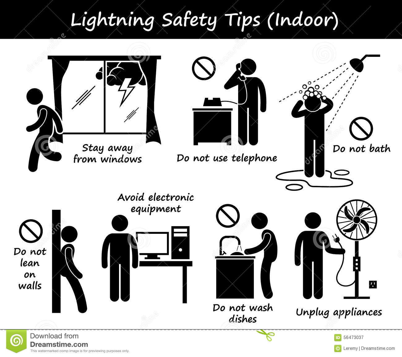 Lightning Safety Tips Stock Illustrations 2 Lightning