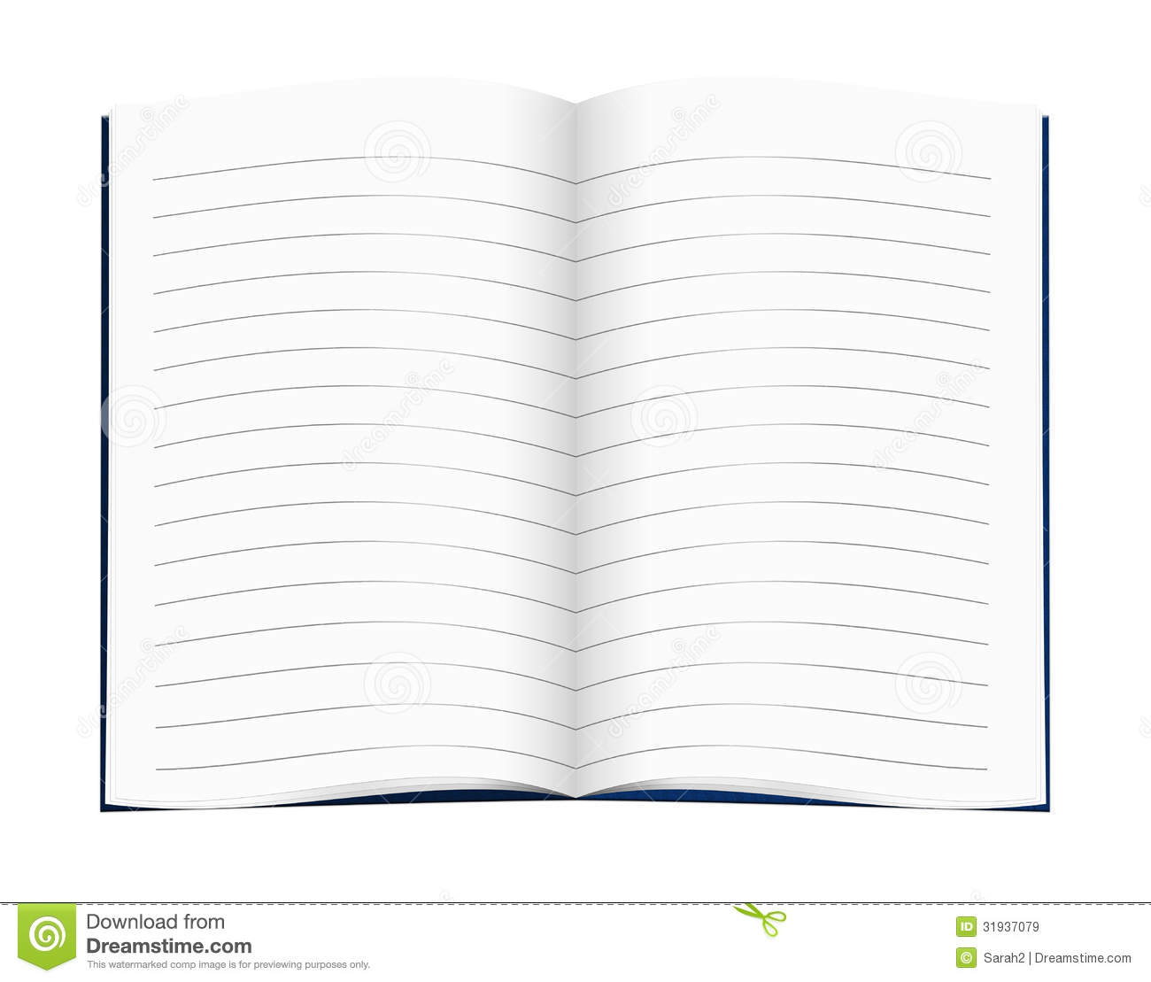 Lined Blank Copy Book Exercise Book