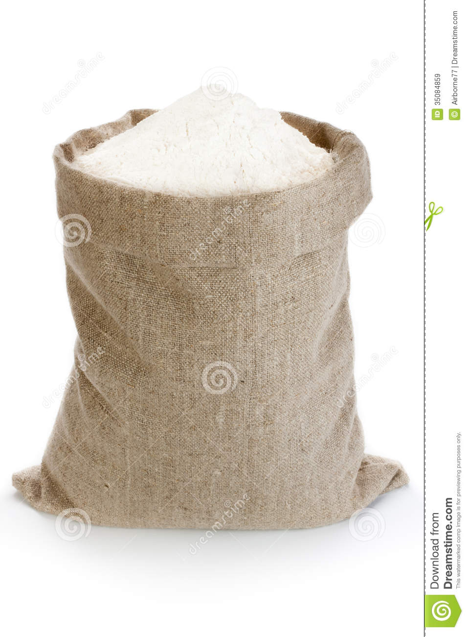 Linen Sack With Flour Royalty Free Stock Images Image