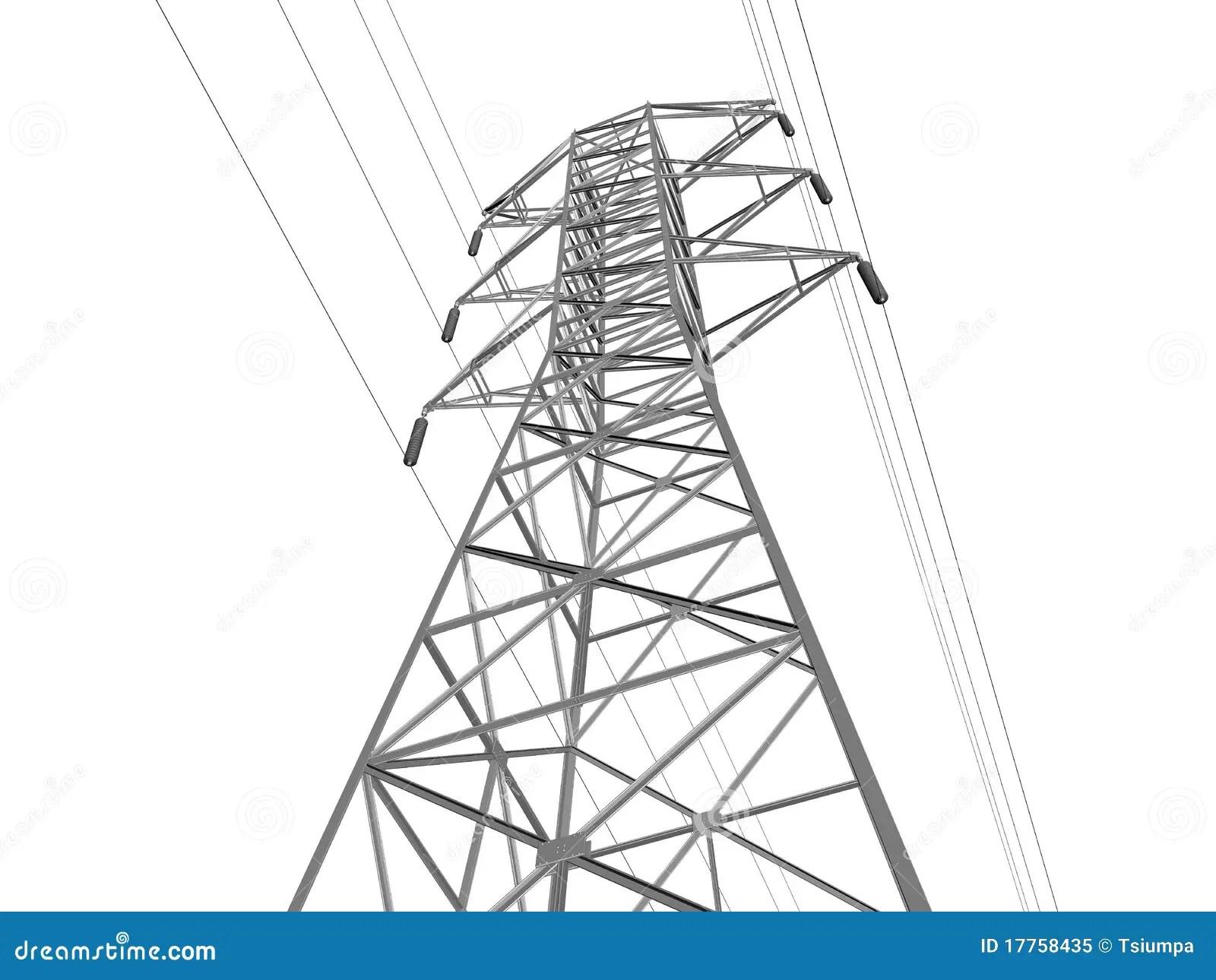 Linha De Transmissao Eletrica Ilustracao Stock