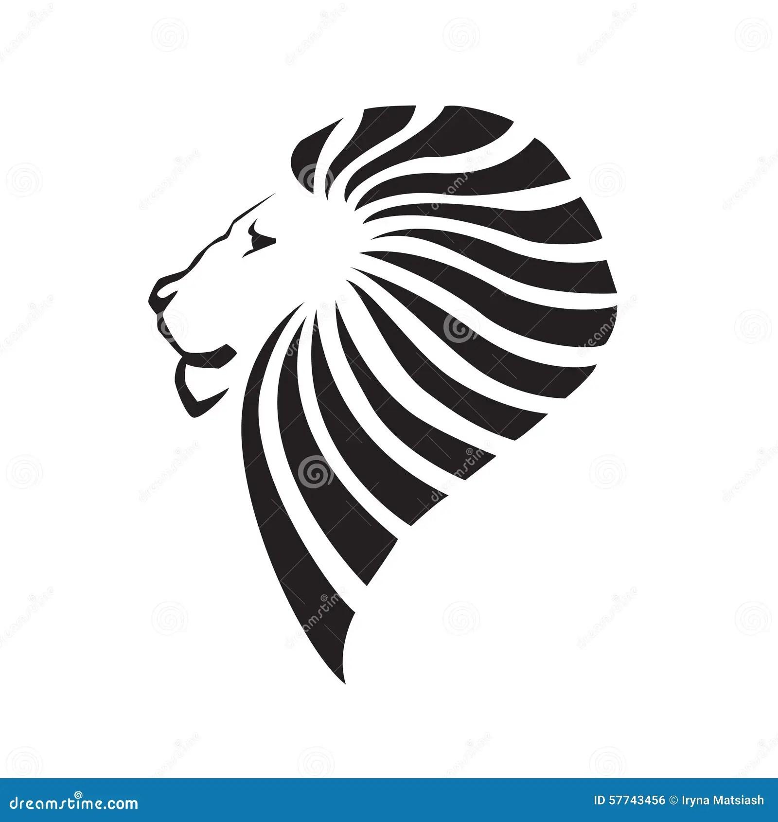 Lion Head Silhouette Stock Vector