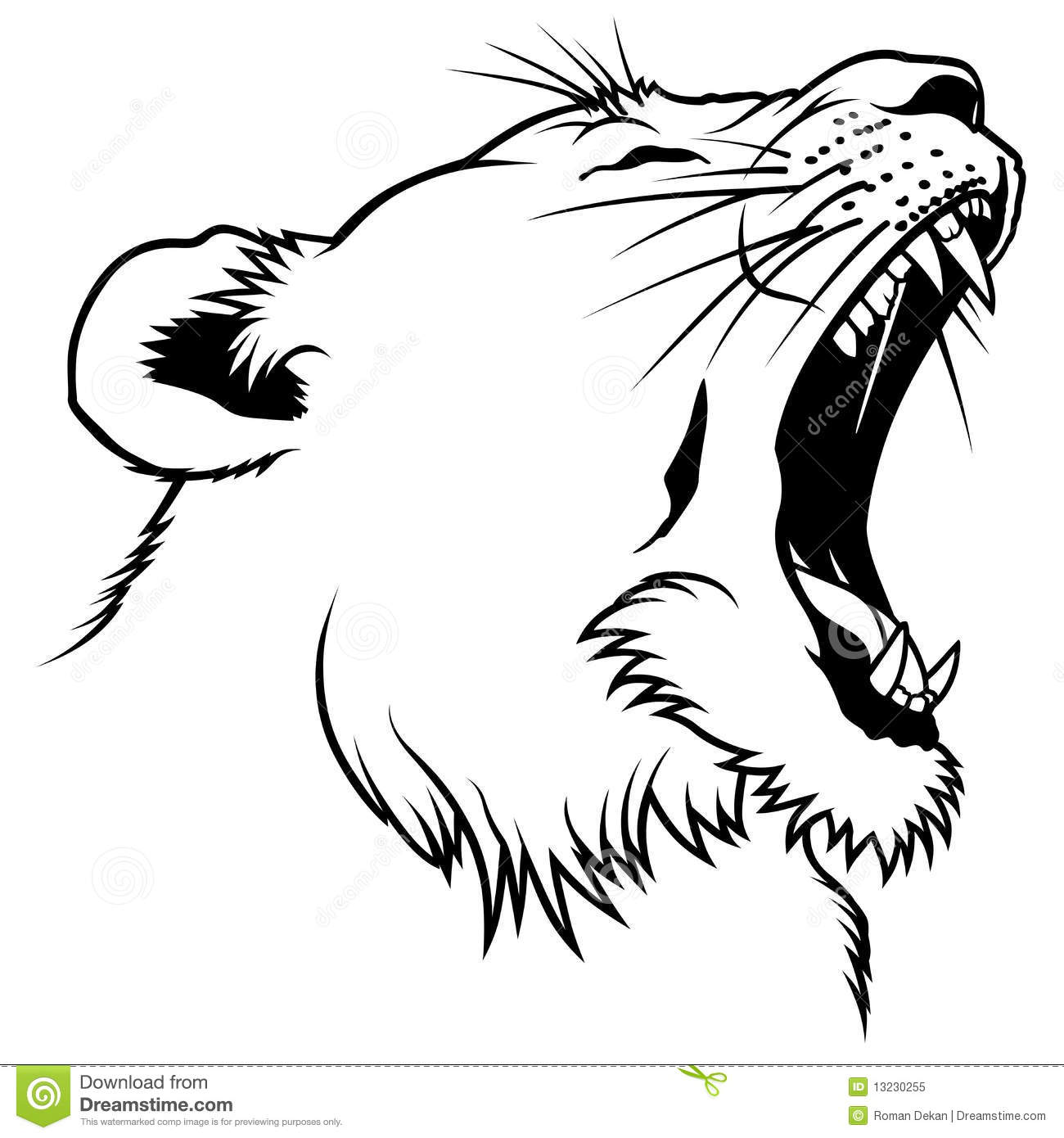 Lioness Head Royalty Free Stock Photo