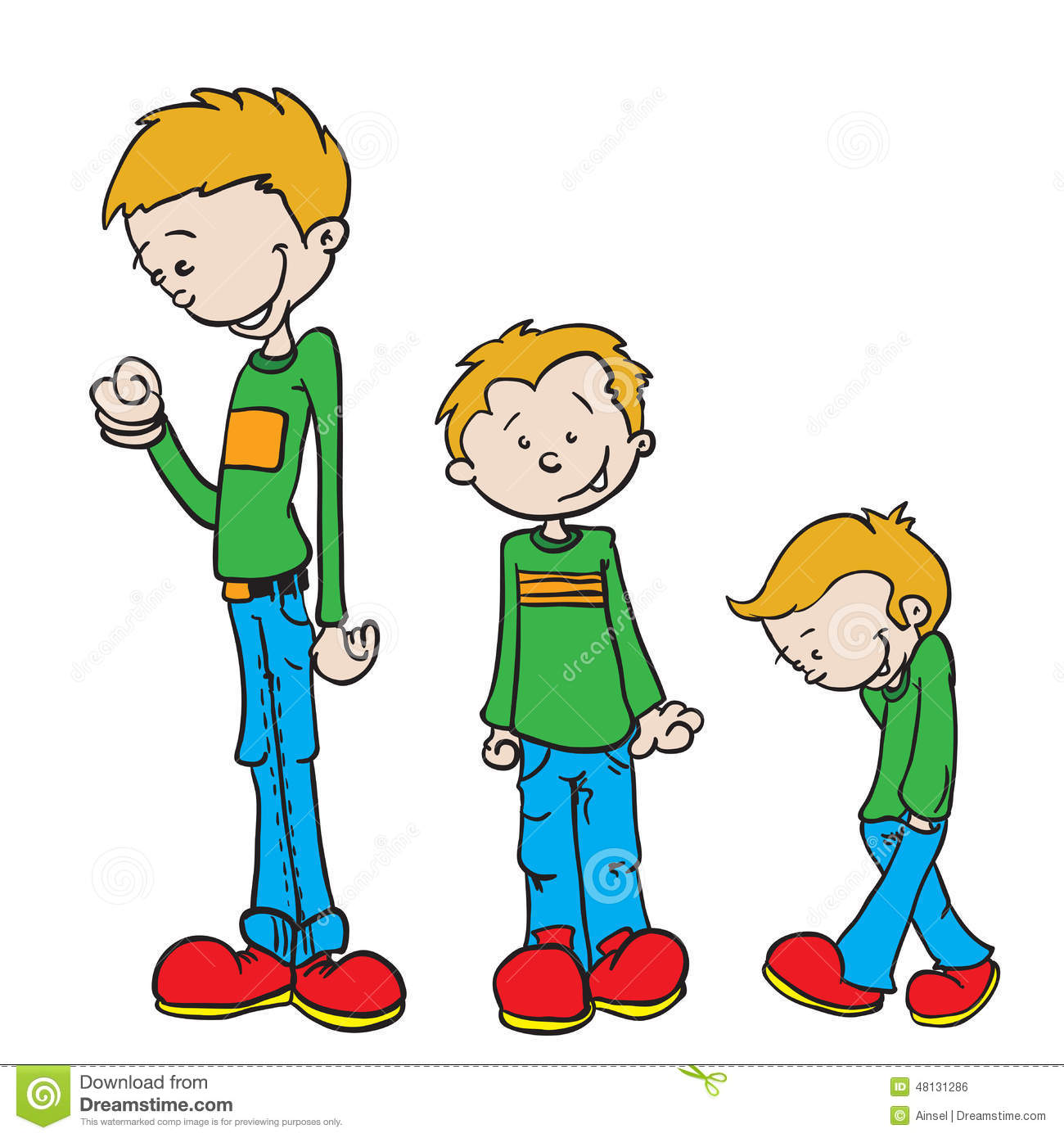 Little Boy Grow Stock Illustration