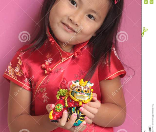 Little Chinese Girl With Dragon