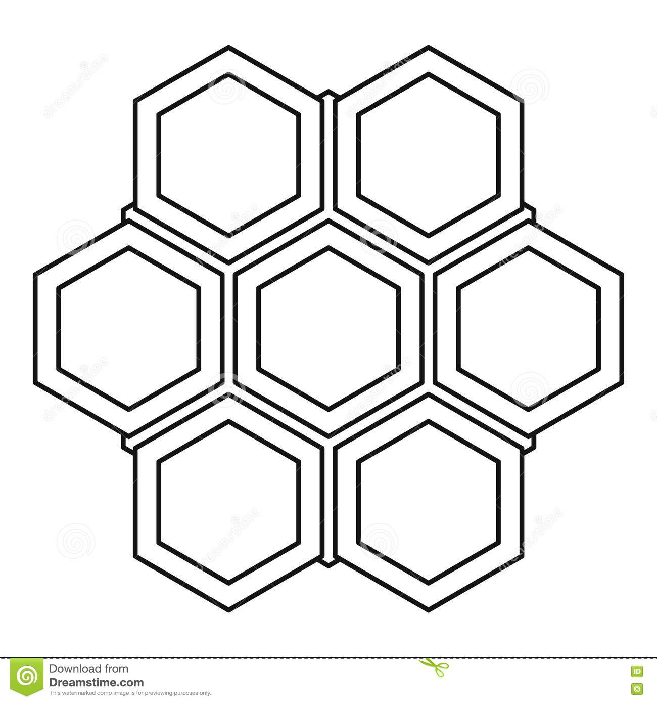bee hive icon outline style cartoon vector