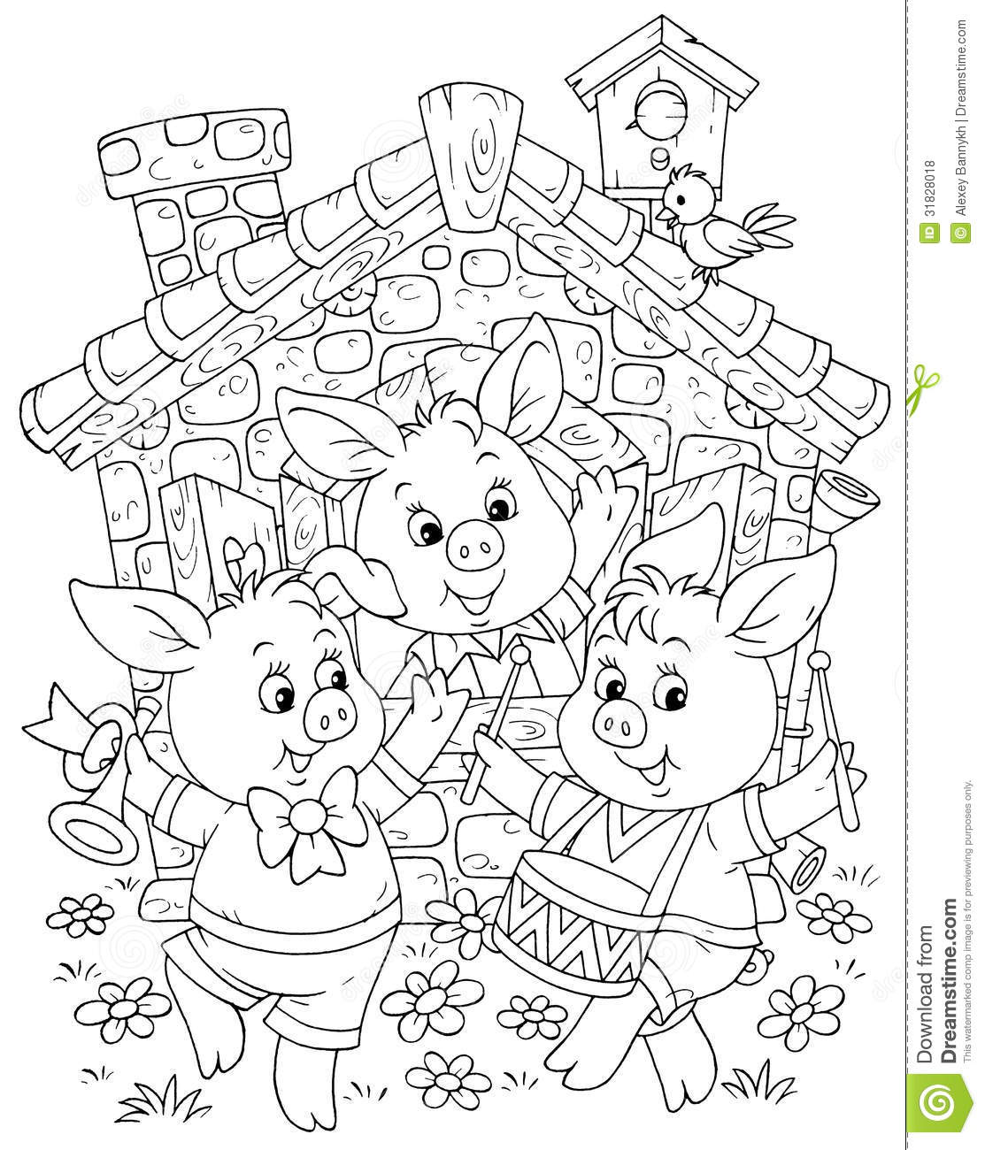 Little Piglets Stock Illustration Illustration Of