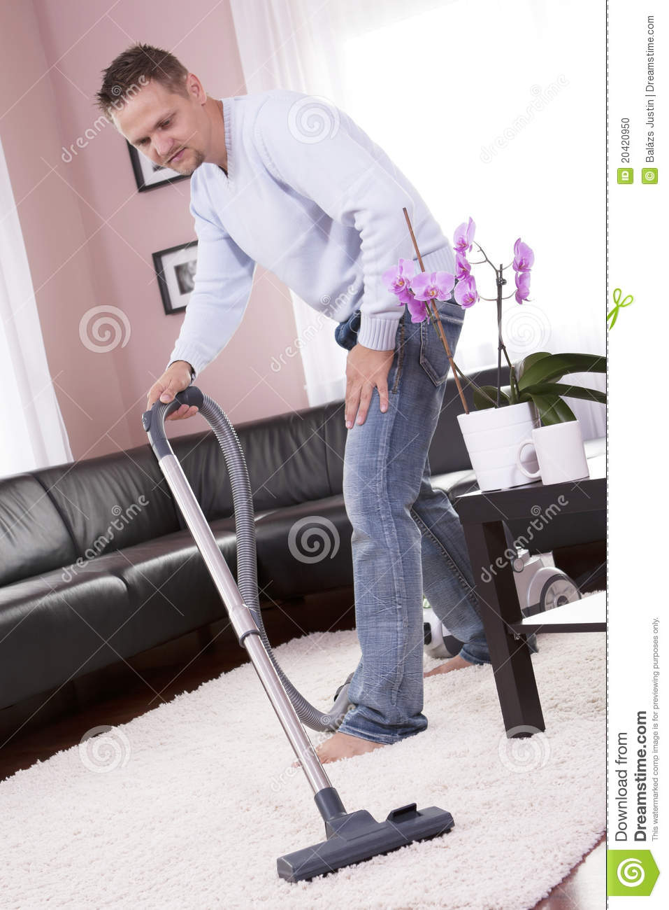 Living Room Cleaning Vacuum Cleaner Stock Photo Image