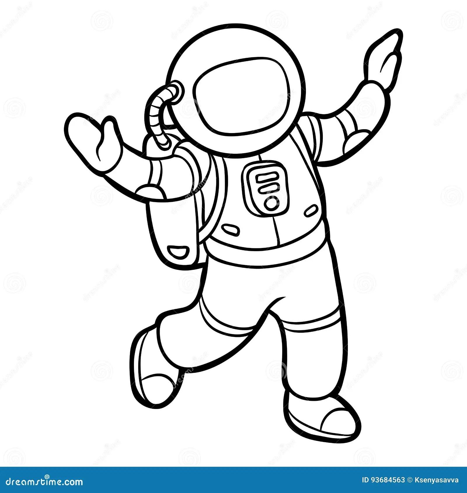 Livre De Coloriage Astronaute Illustration De Vecteur