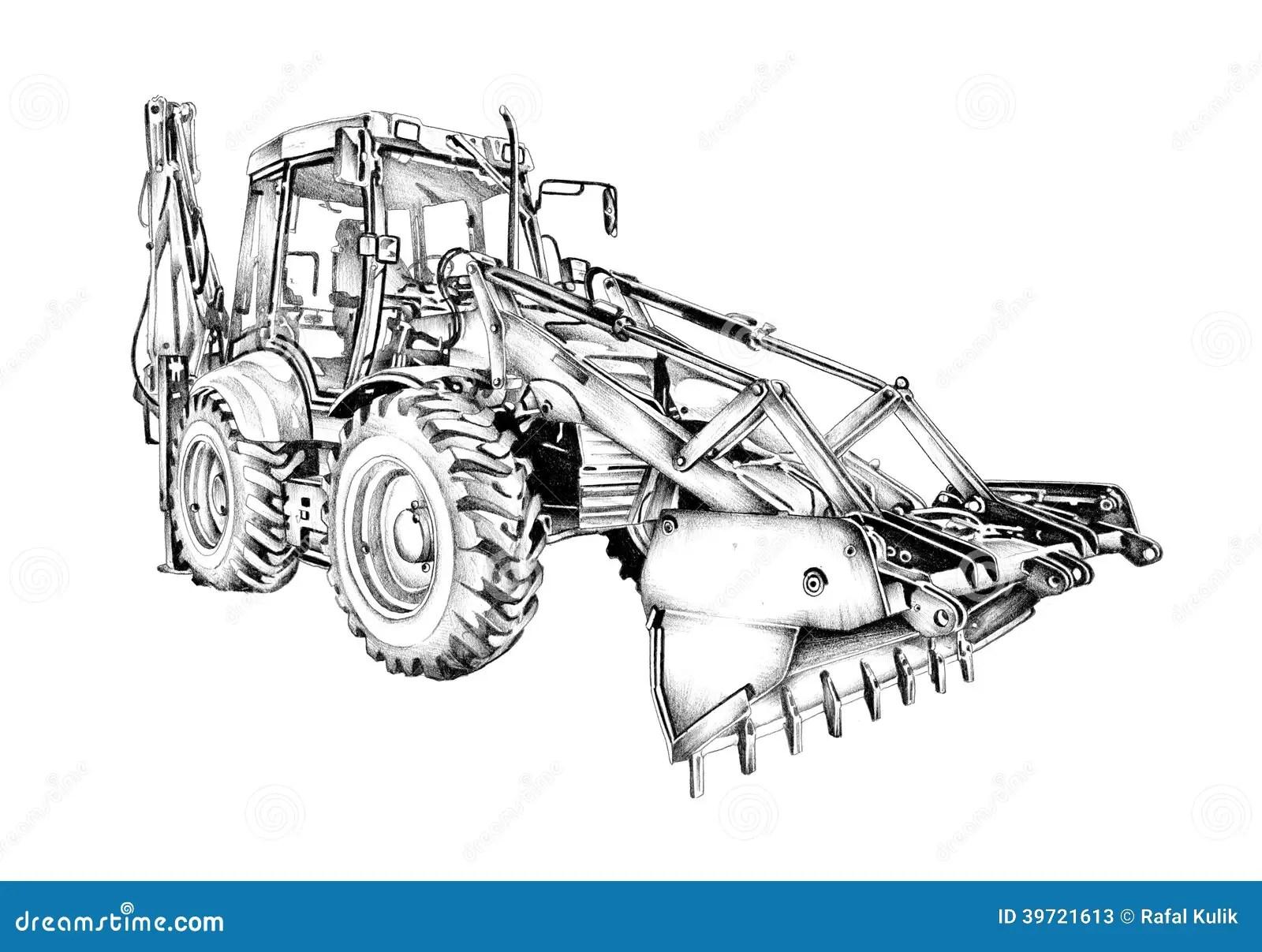 Loader Illustration Drawing Art Stock Illustration